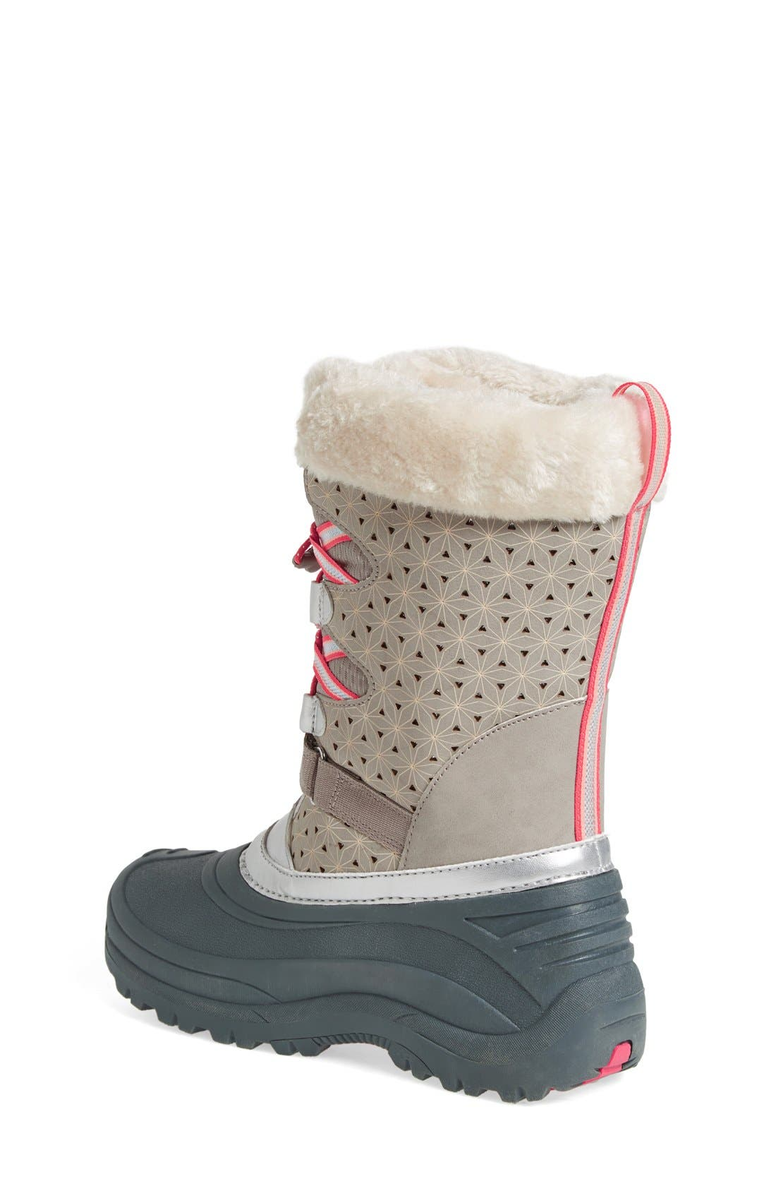 'Venom' Waterproof Insulated Snow Boot,                             Alternate thumbnail 2, color,                             Grey/ Pink