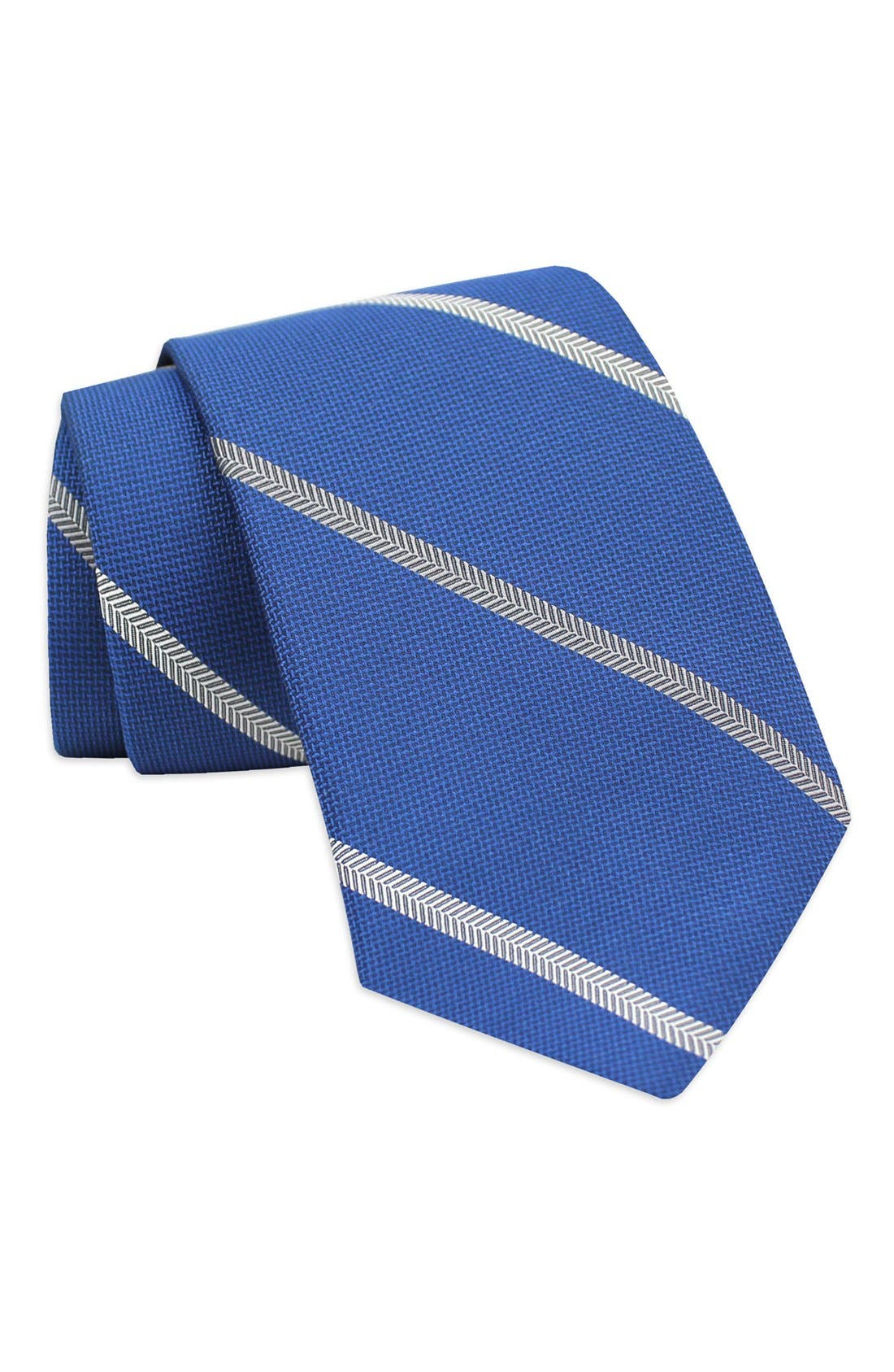 Alternate Image 1 Selected - Gitman Stripe Silk Tie (X-Long)