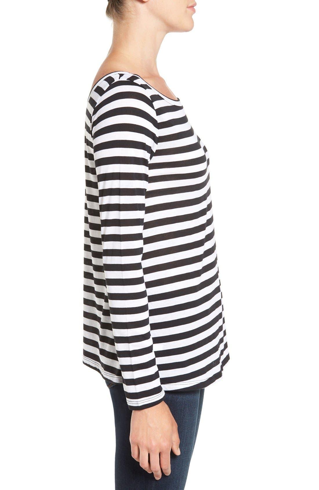 Alternate Image 3  - Hinge Slouchy Stripe Boatneck Tee