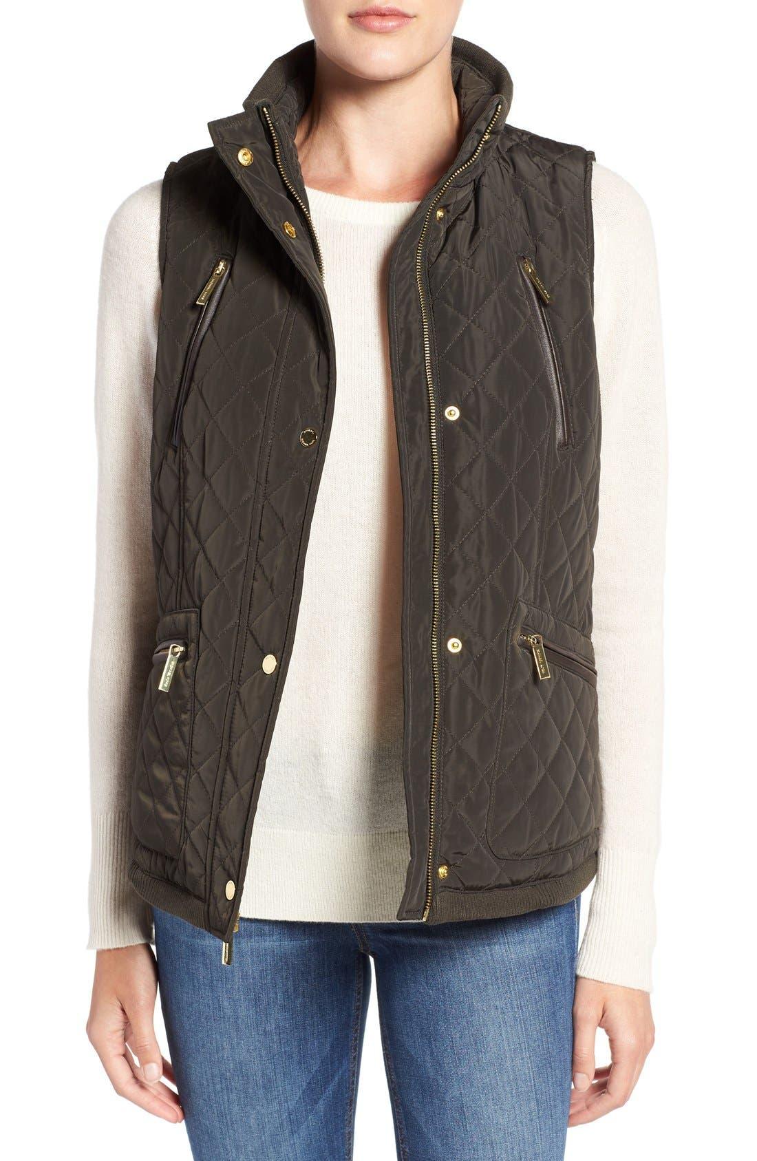MICHAEL Michael Kors Diamond Quilted Vest (Regular & Petite)
