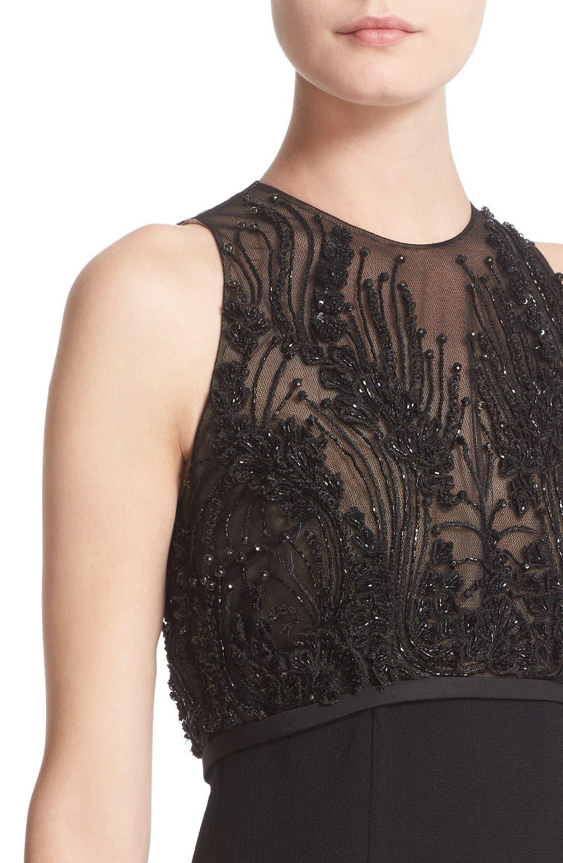 Alternate Image 5  - Carmen Marc Valvo Couture Embellished Bodice Sleeveless Cocktail Dress