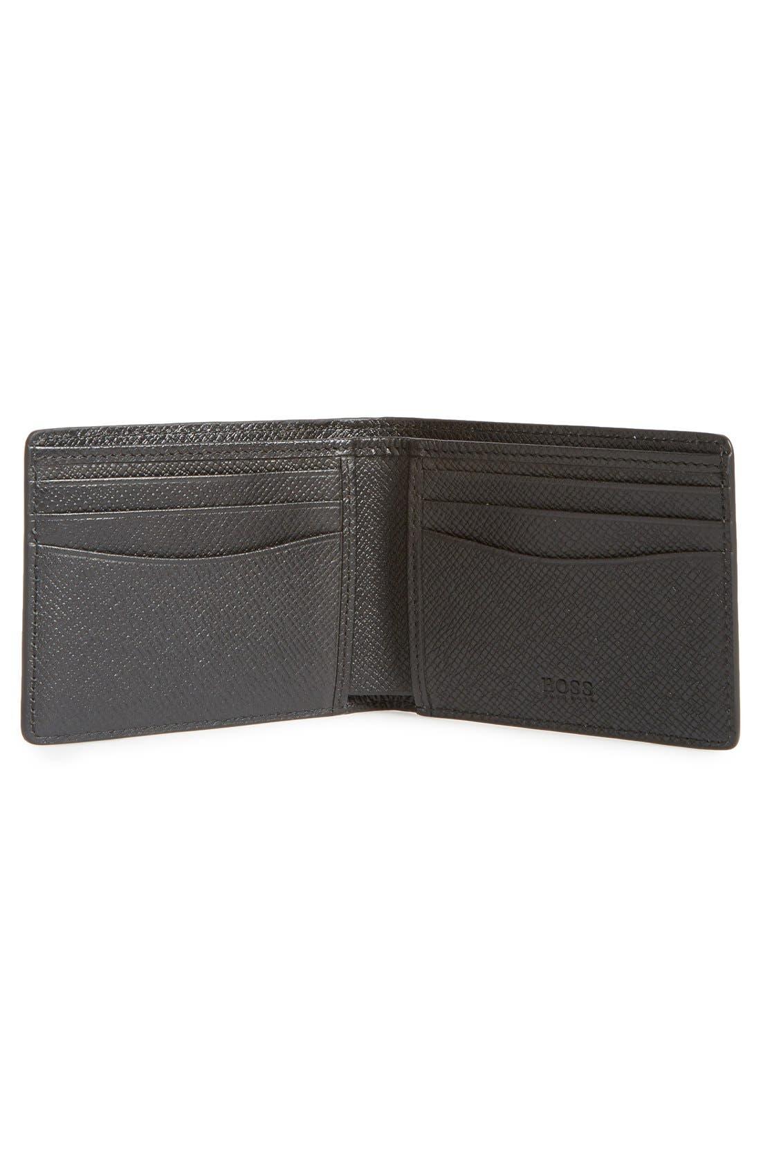 Alternate Image 2  - BOSS 'Signature' Bifold Calfskin Leather Wallet