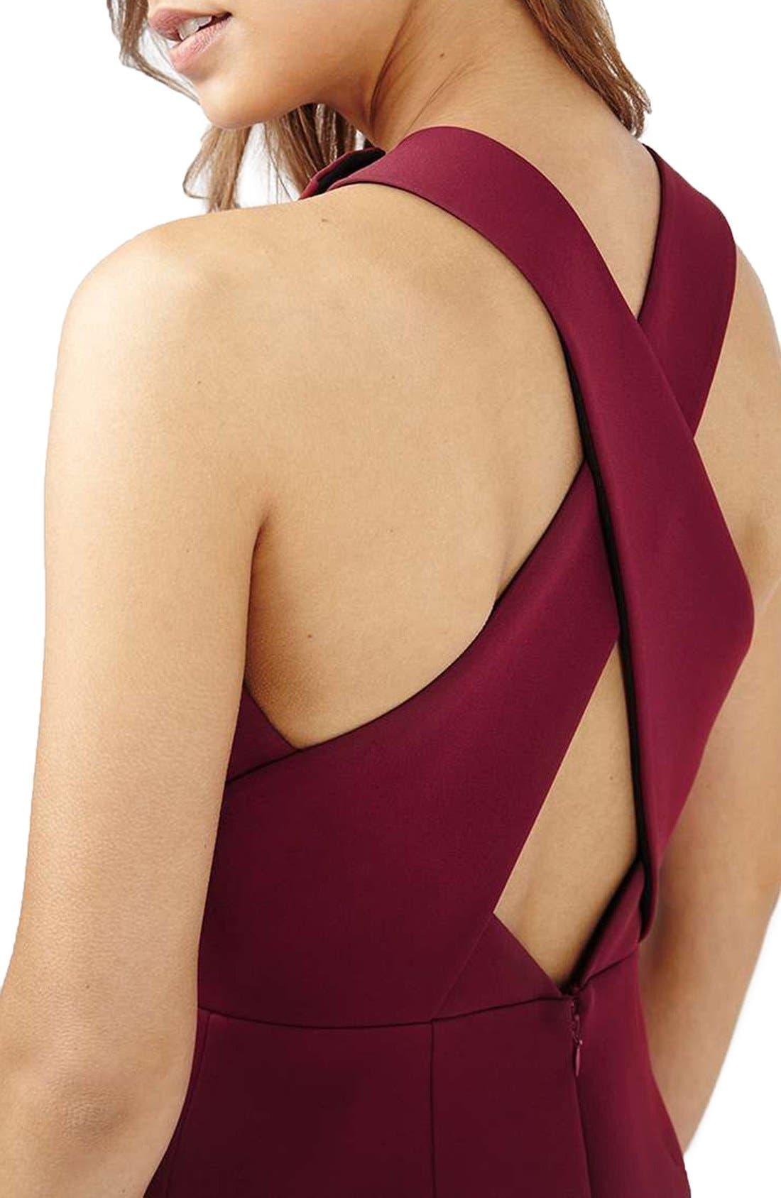 Alternate Image 4  - Topshop Structured Crisscross Back Midi Dress