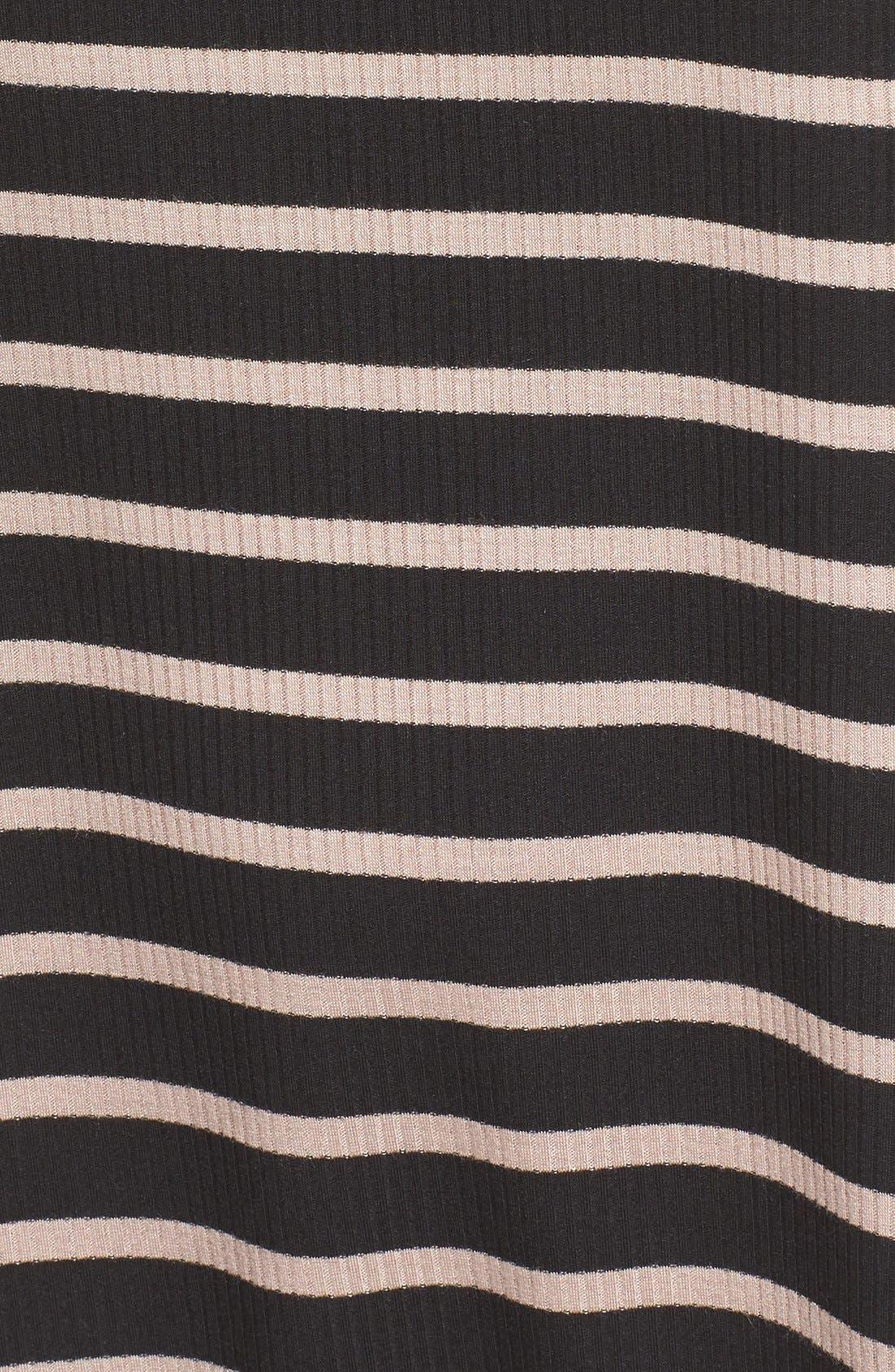 Cowl Neck Shift Dress,                             Alternate thumbnail 8, color,                             Black / Taupe Rib