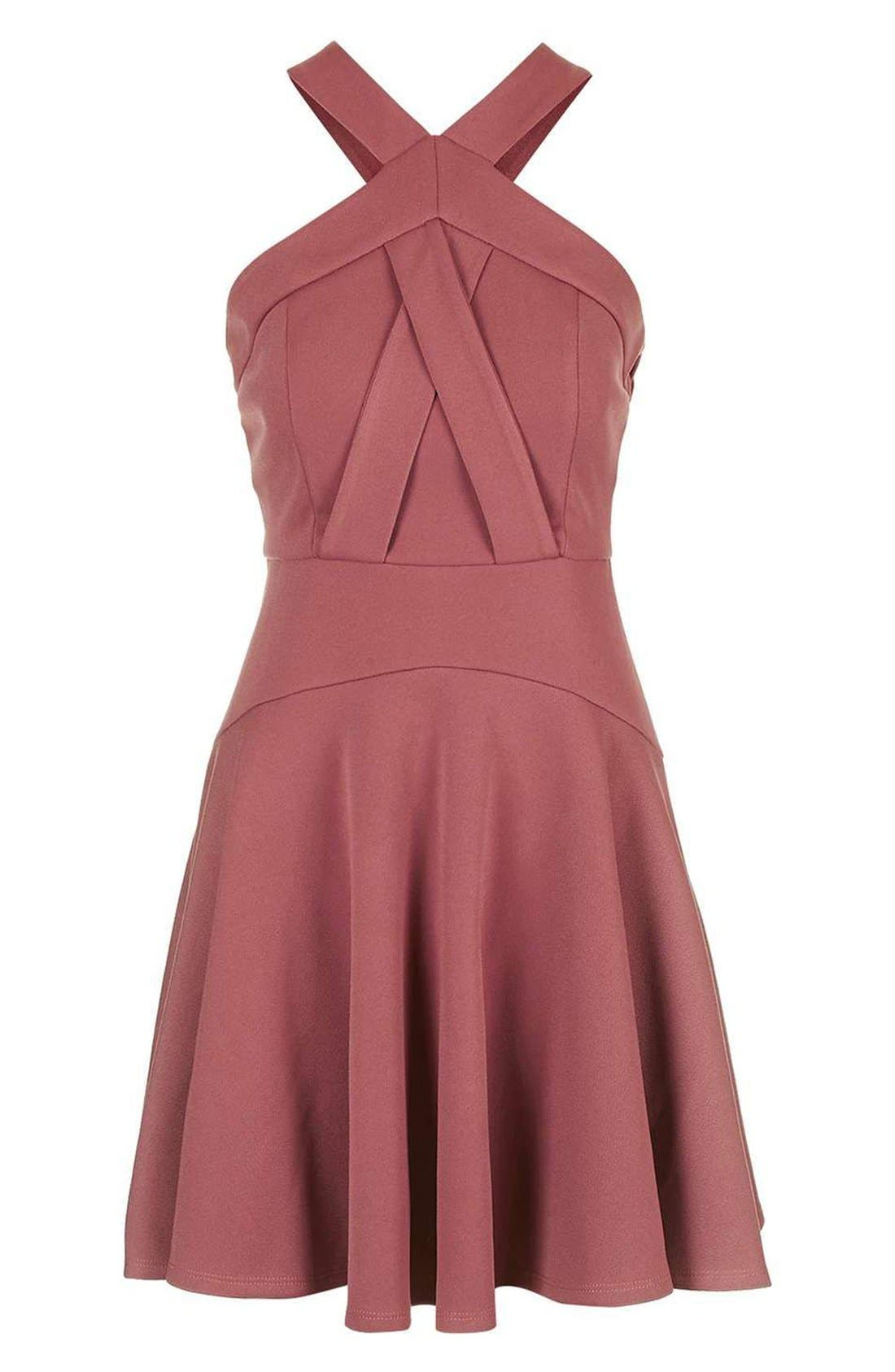 Alternate Image 4  - Topshop Cross Front Skater Dress