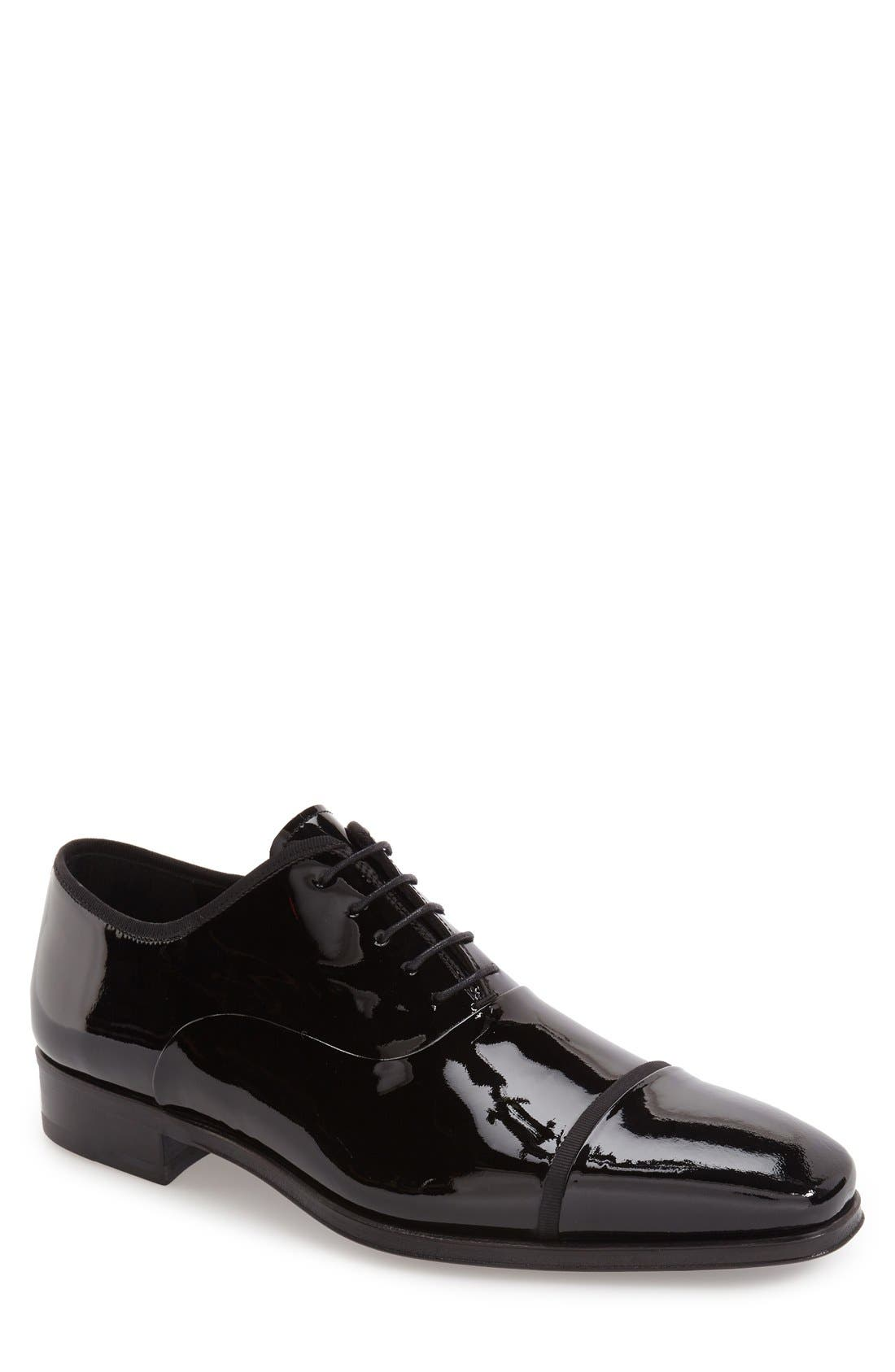 'Denali' Cap Toe Oxford,                         Main,                         color, Black