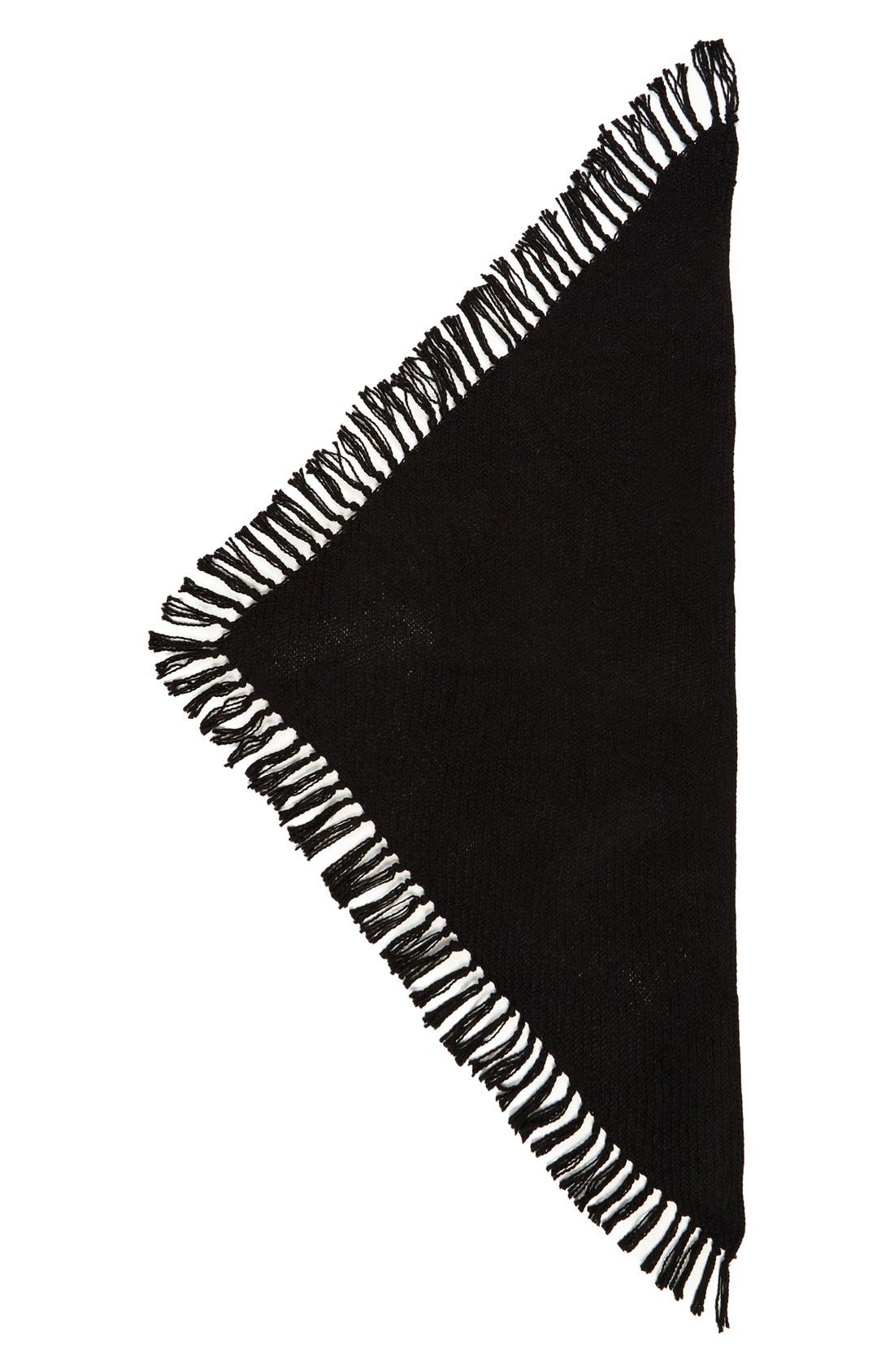 Knit Scarf,                             Alternate thumbnail 2, color,                             Black