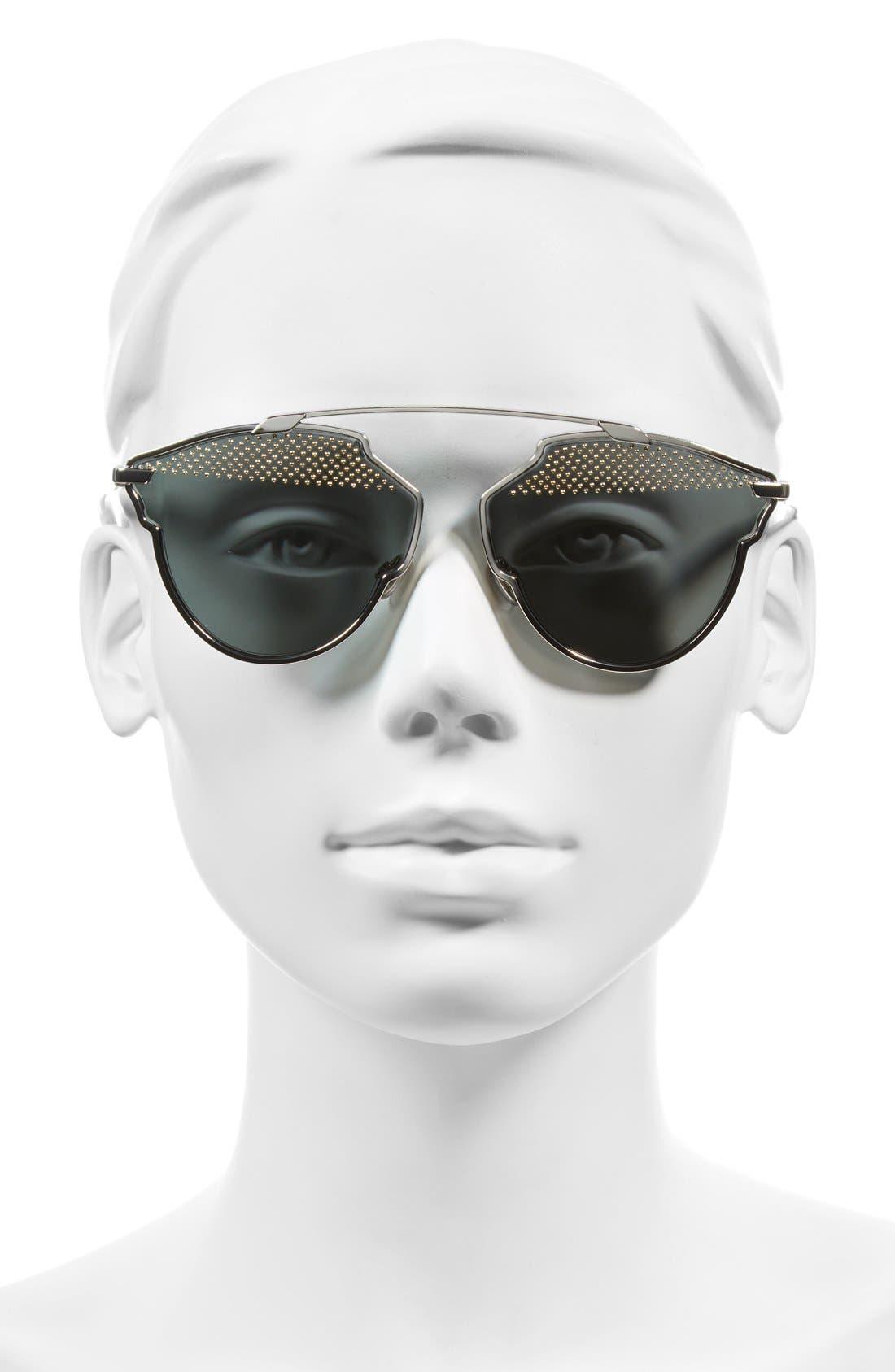 Alternate Image 2  - Dior So Real Studded 59mm Brow Bar Sunglasses