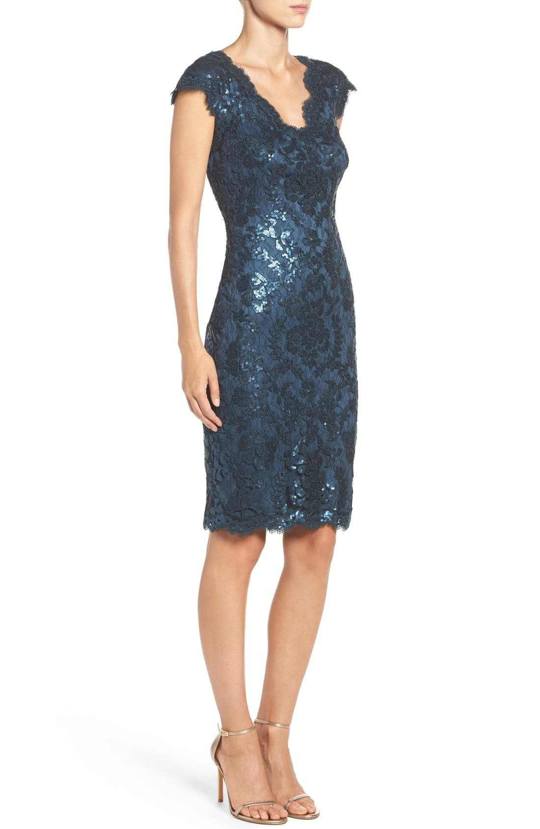 Alternate Image 3  - Tadashi Shoji Sequin Sheath Dress (Regular & Petite)