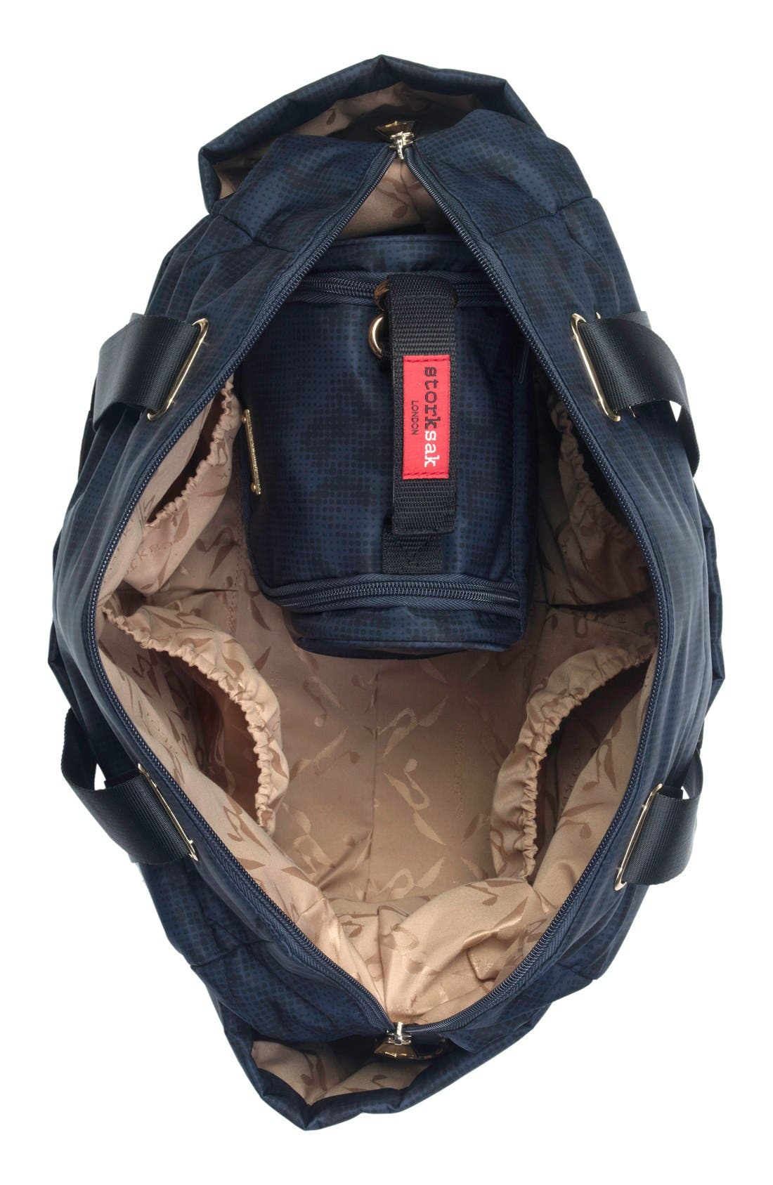 'Sandy' Diaper Bag,                             Alternate thumbnail 3, color,                             Navy