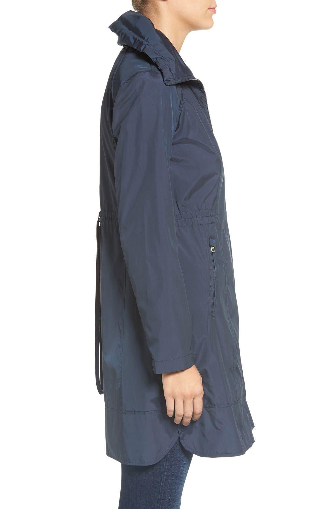 Packable Rain Jacket,                             Alternate thumbnail 3, color,                             Indigo