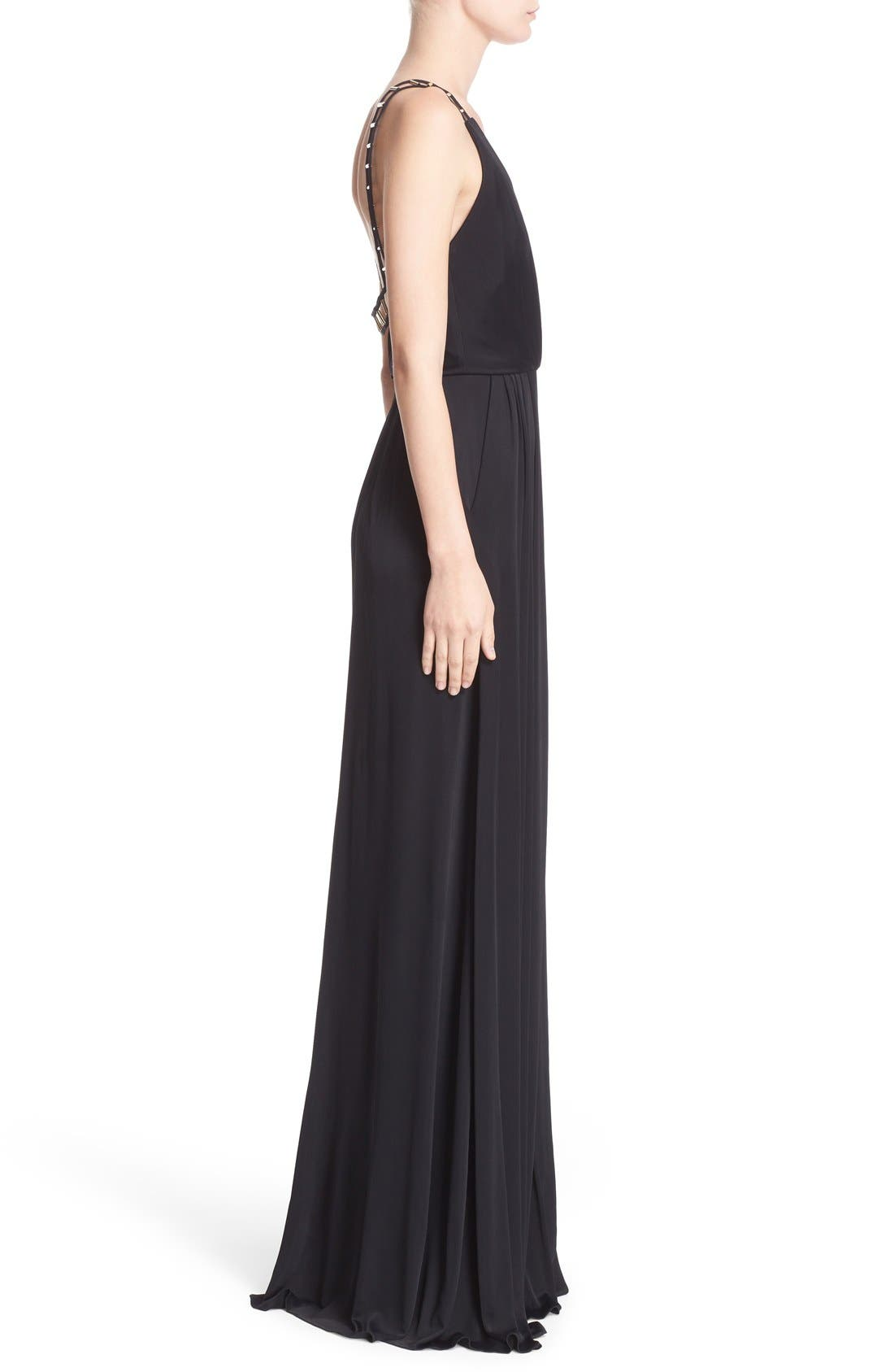 Alternate Image 5  - Versace Embellished Matte Jersey Gown