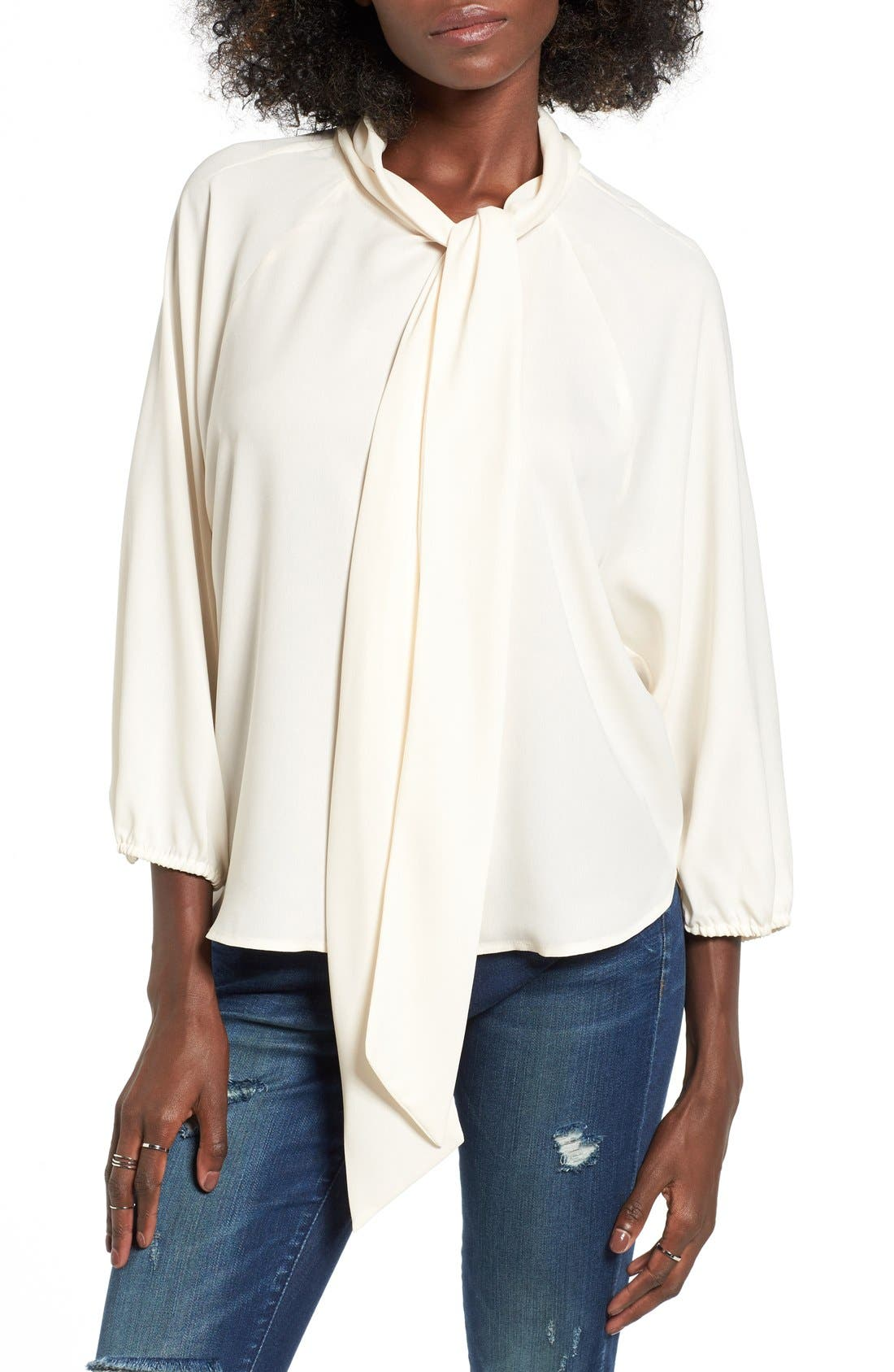 Alternate Image 1 Selected - Leith Tie Neck Blouse