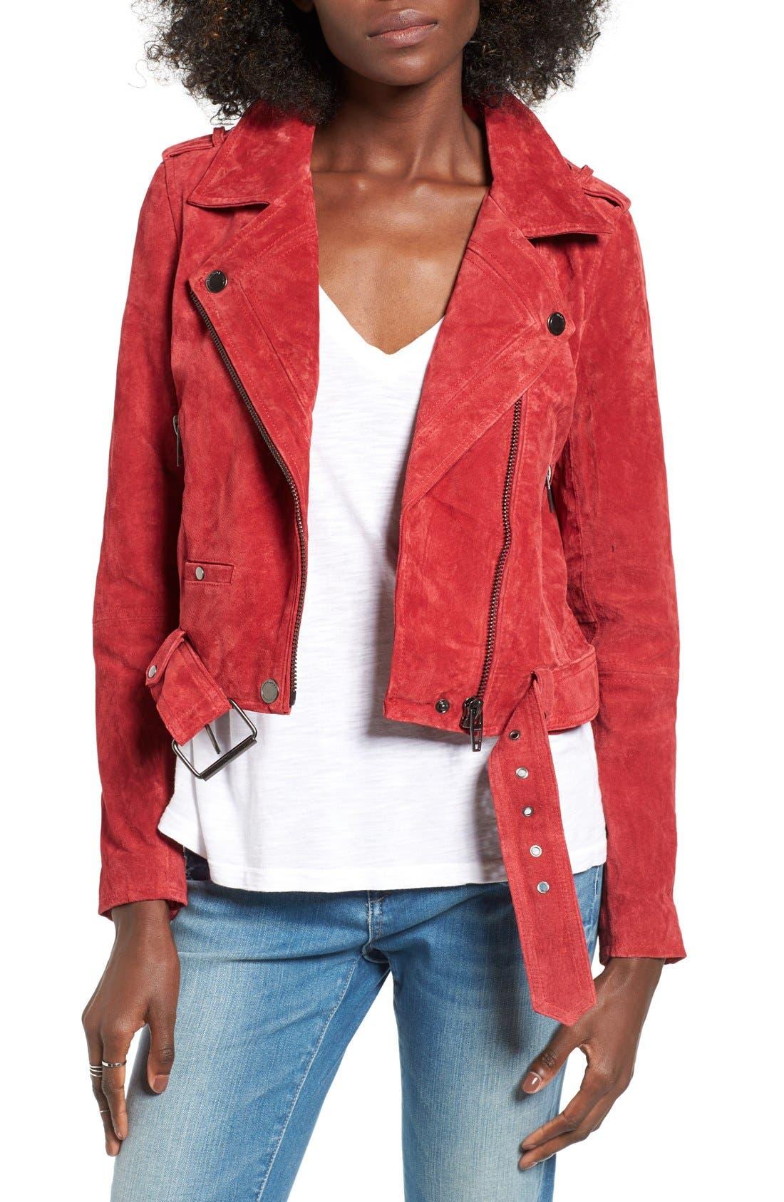 Main Image - BLANKNYC Morning Suede Moto Jacket