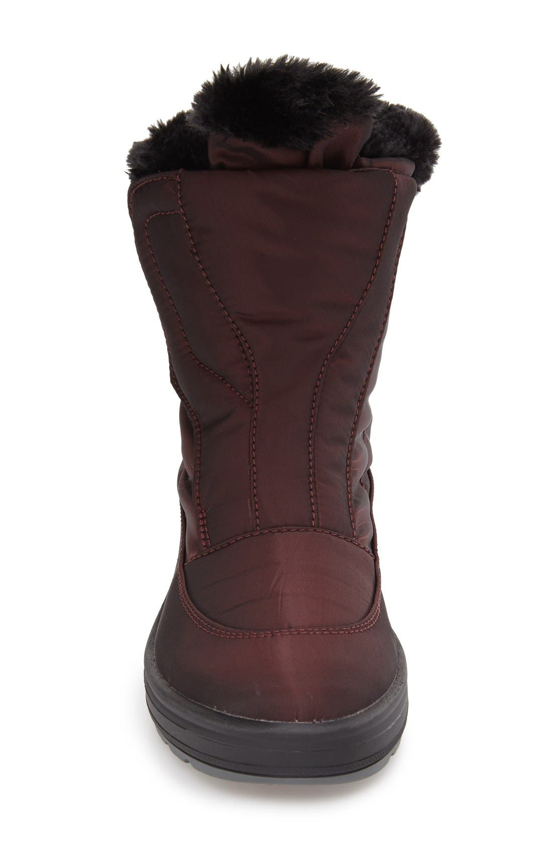 'Kimmi' Snow Boot,                             Alternate thumbnail 3, color,                             Burgundy Fabric