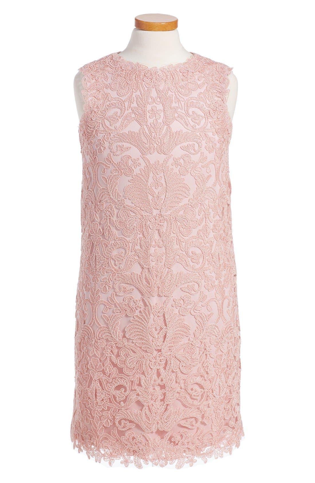 Tadashi Shoji Embroidered Sheath Dress (Toddler Girls, Little Girls & Big Girls)
