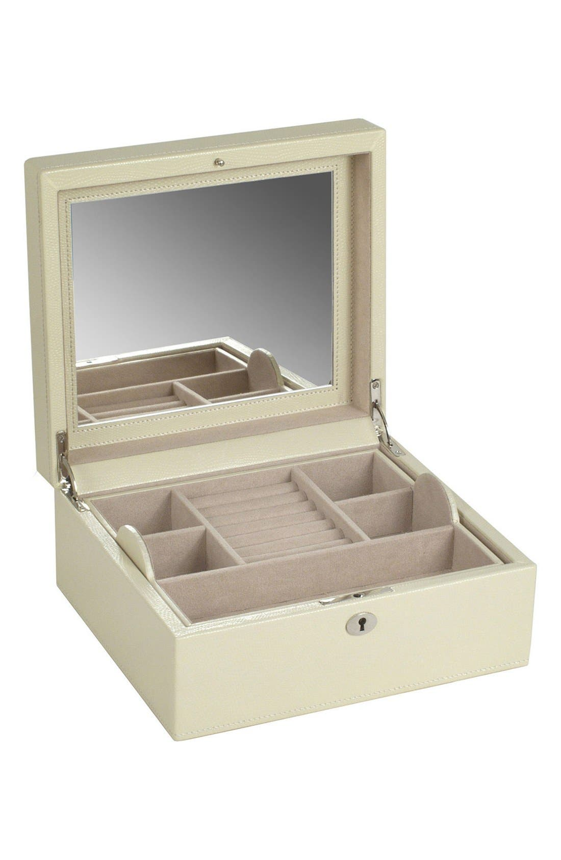 London Square Jewelry Box,                             Alternate thumbnail 3, color,                             Cream