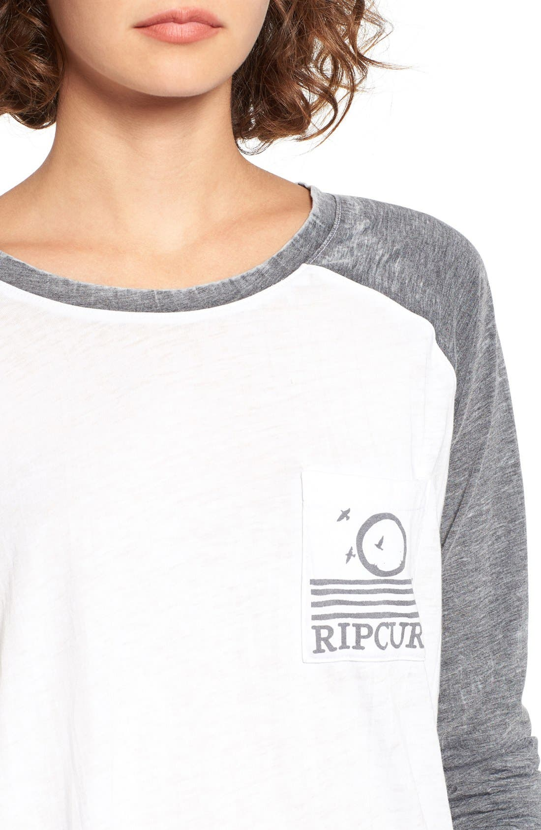 Alternate Image 4  - Rip Curl Surf Bird Graphic Baseball Tee
