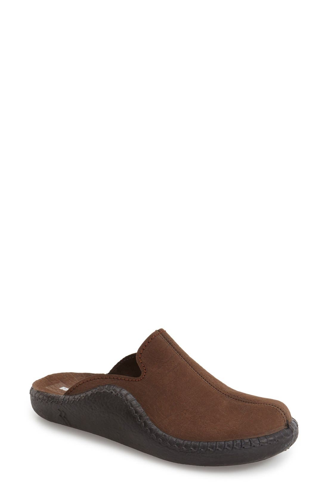 'Mokasso 102' Mule,                         Main,                         color, Brown Leather