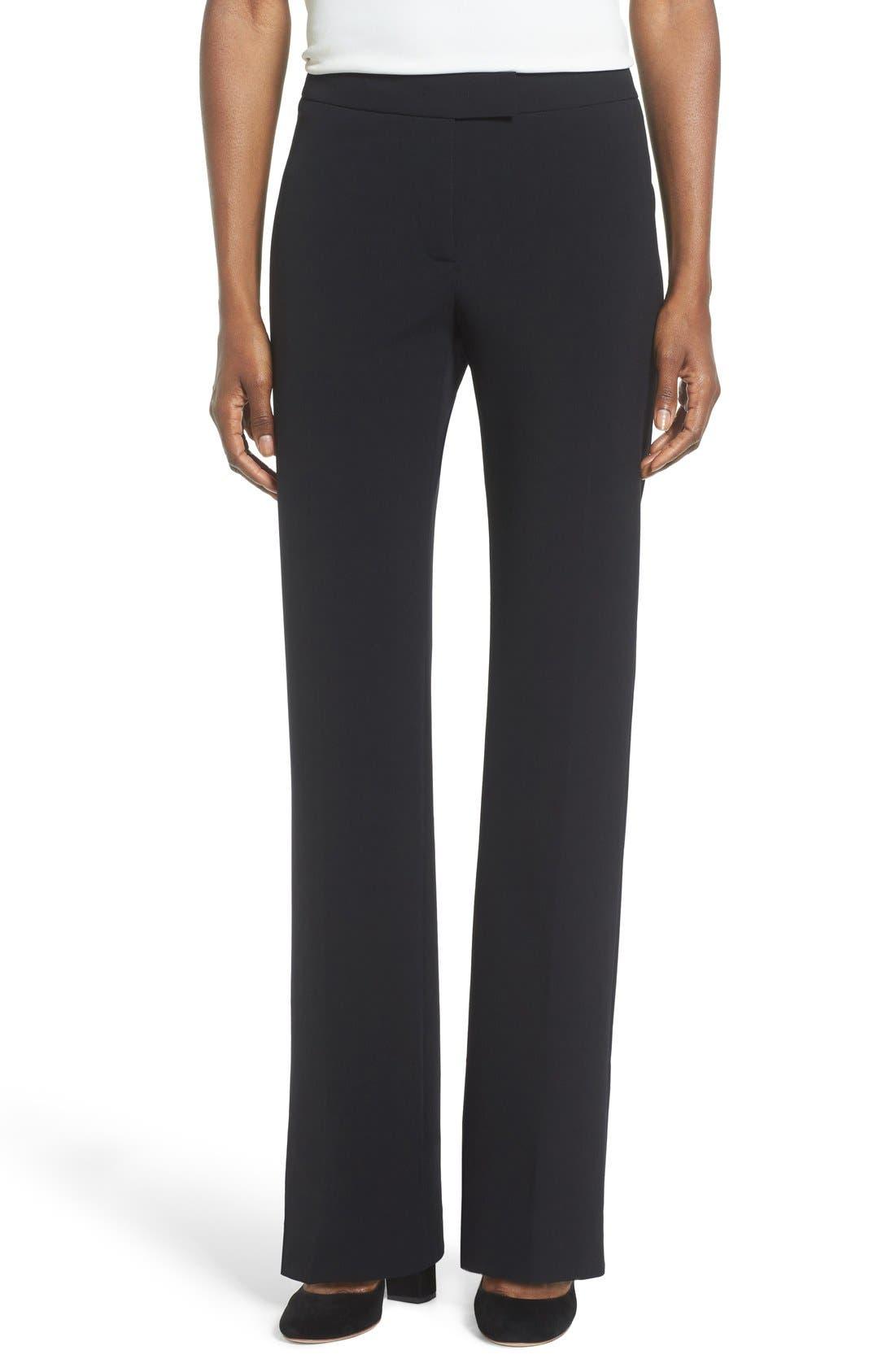 Flare Leg Suit Pants,                         Main,                         color, Anne Klein Black