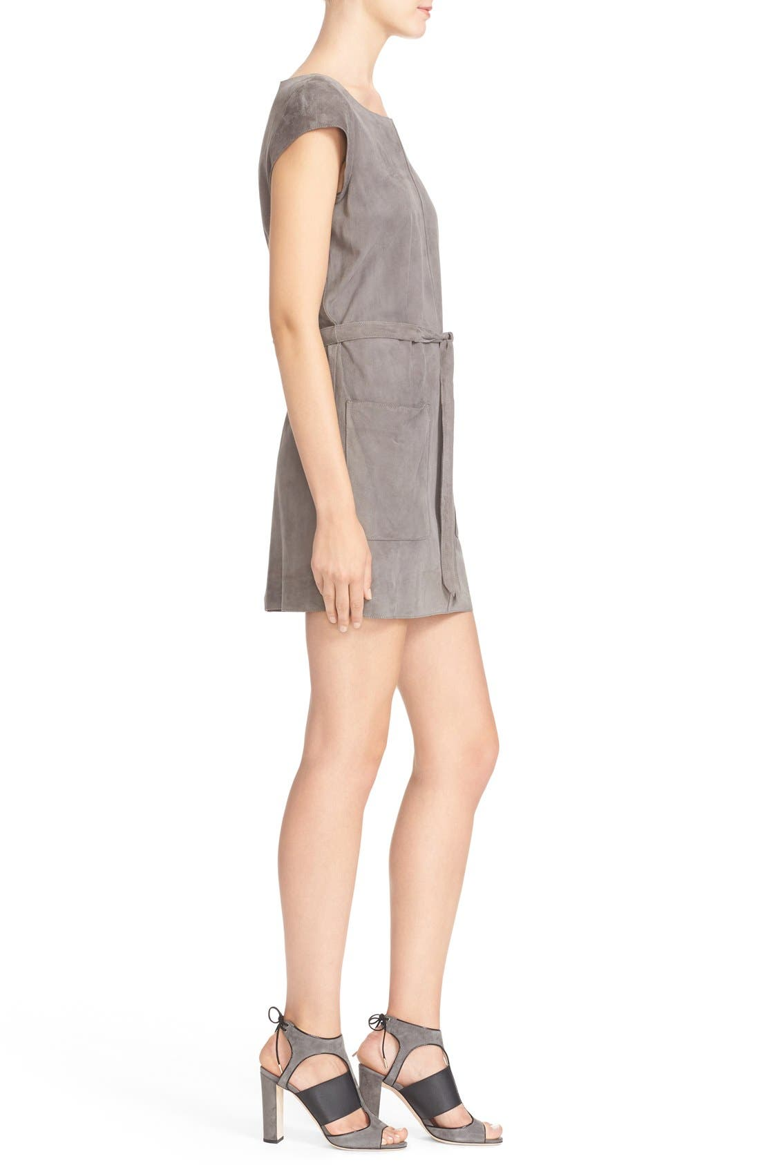 Alternate Image 3  - Joie Maroone Belted Suede Minidress