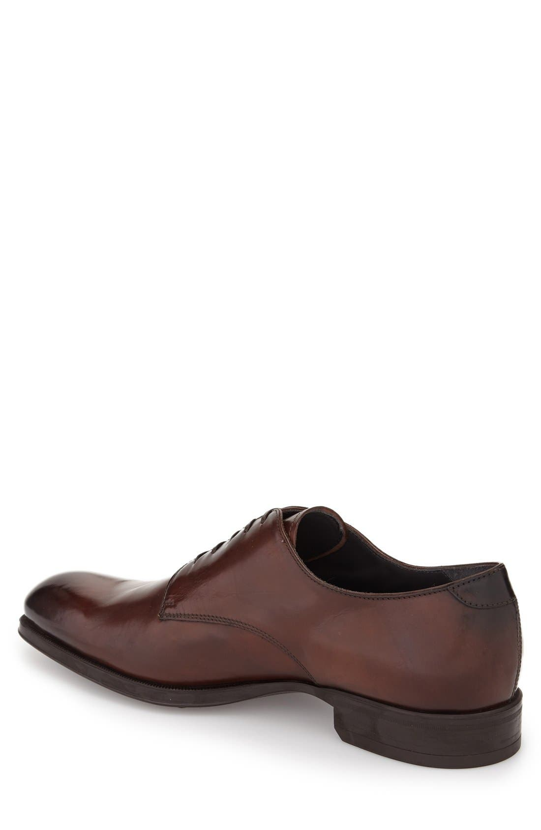 'Buchanan' Plain Toe Derby,                             Alternate thumbnail 2, color,                             Mogano