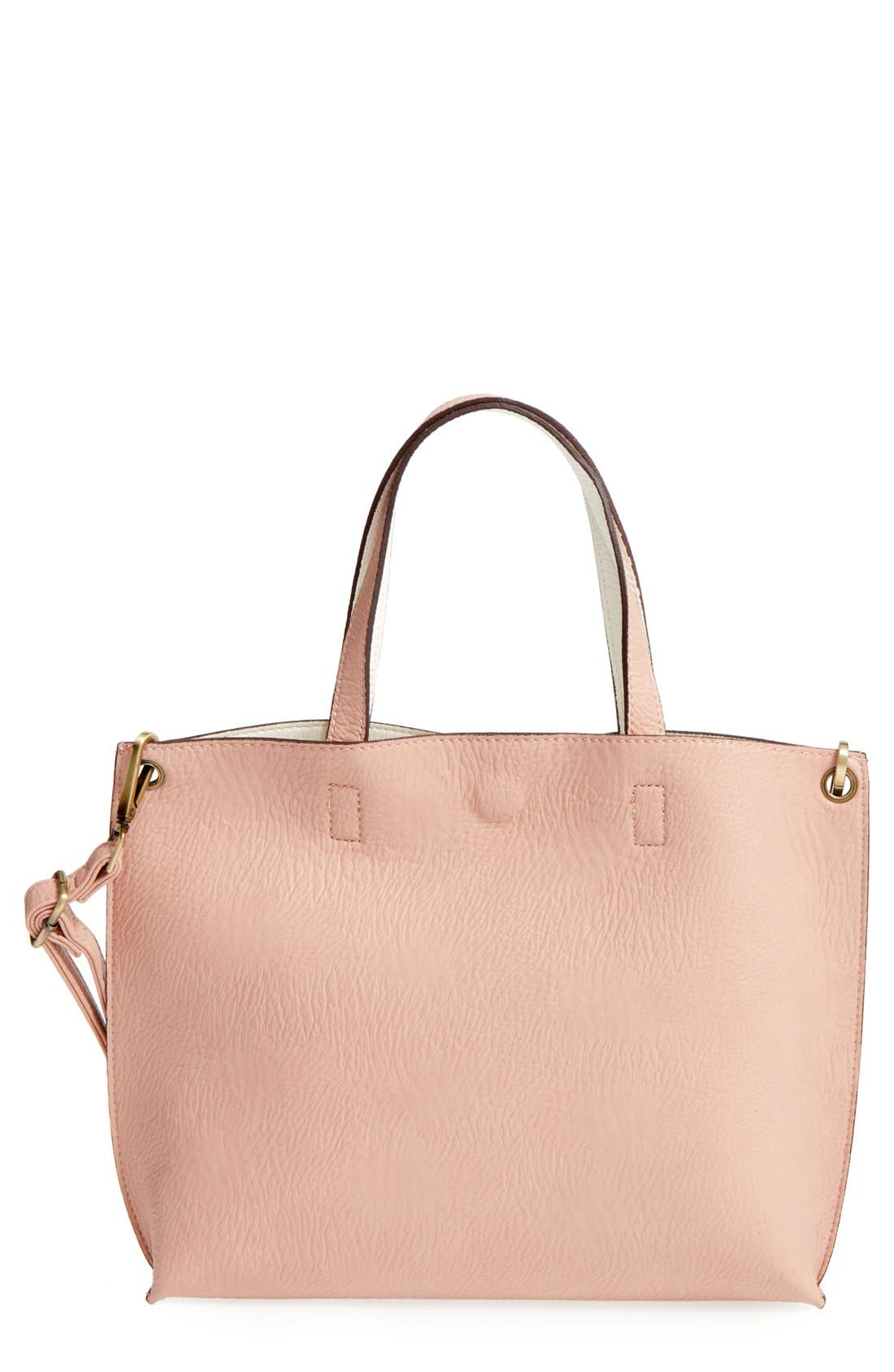 Alternate Image 3  - Street Level Reversible Faux Leather Tote