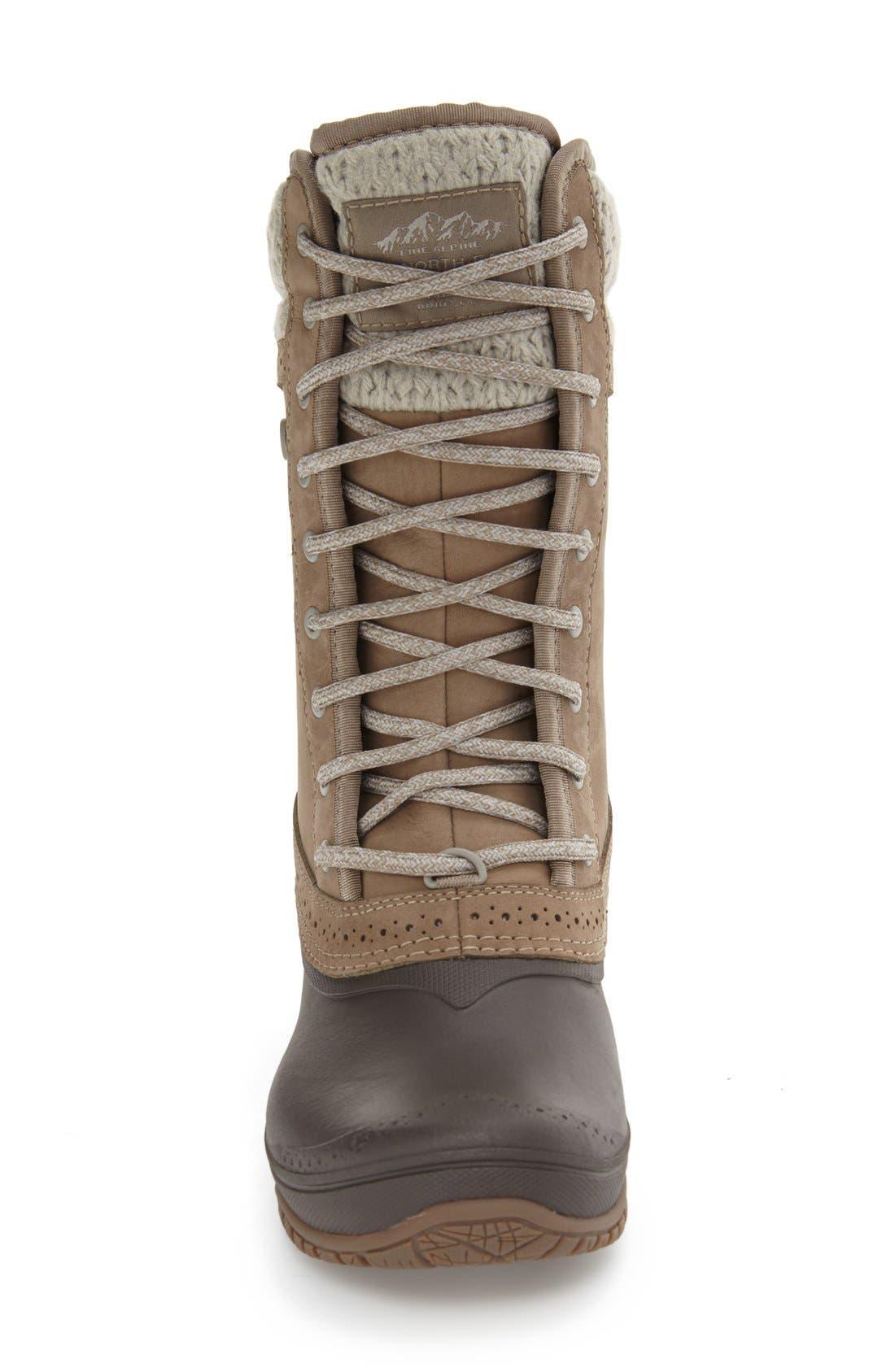 Shellista Waterproof Insulated Snow Boot,                             Alternate thumbnail 3, color,                             Split Rock Brown/ Dove Grey