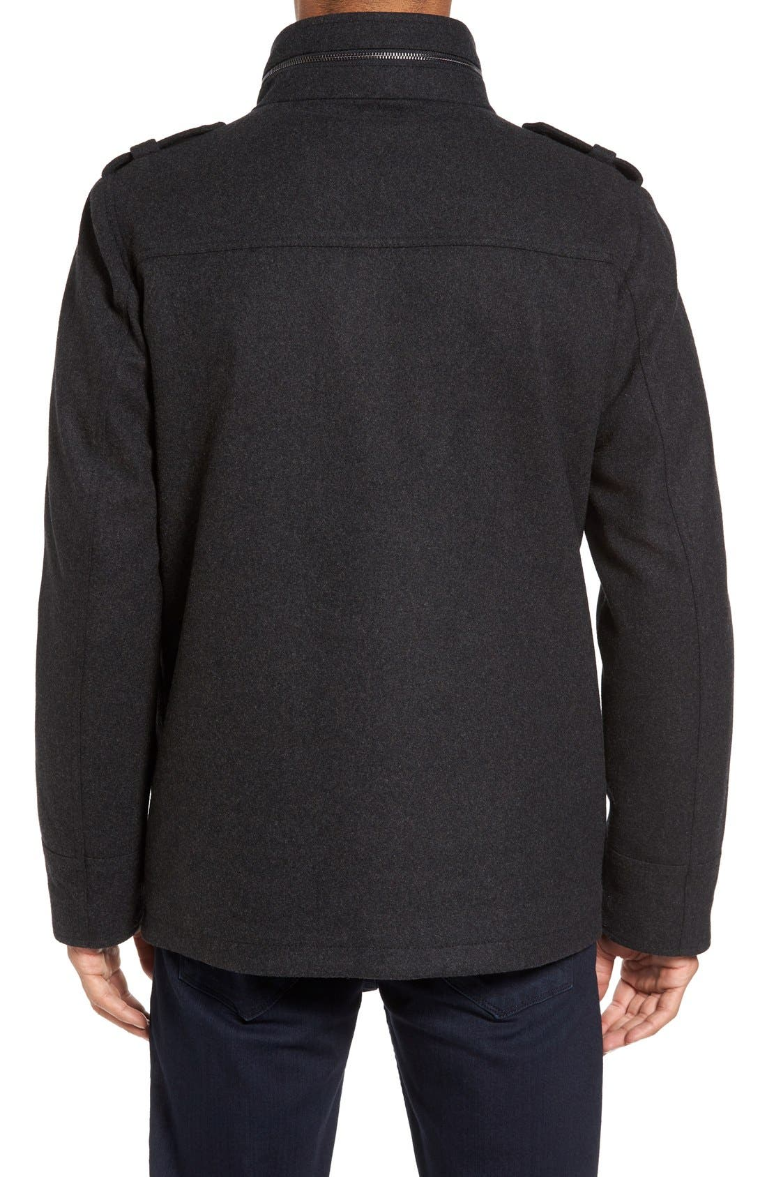 Alternate Image 2  - Vince Camuto Austin Wool Blend Military Coat