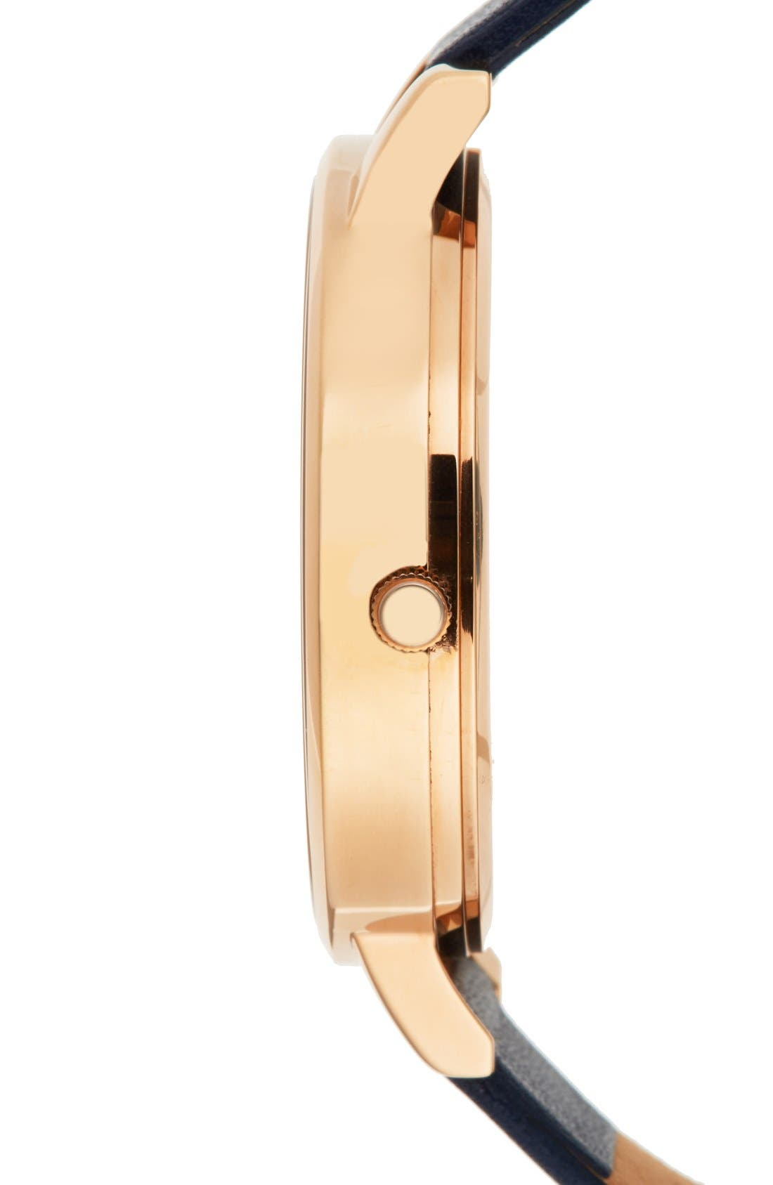 Alternate Image 3  - Olivia Burton Big Dial Leather Strap Watch, 38mm