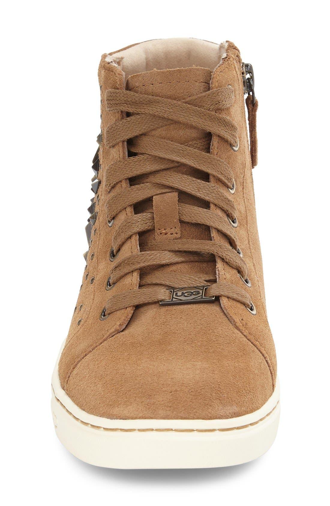 Alternate Image 3  - UGG® Gradie Deco Stud High Top Sneaker (Women)