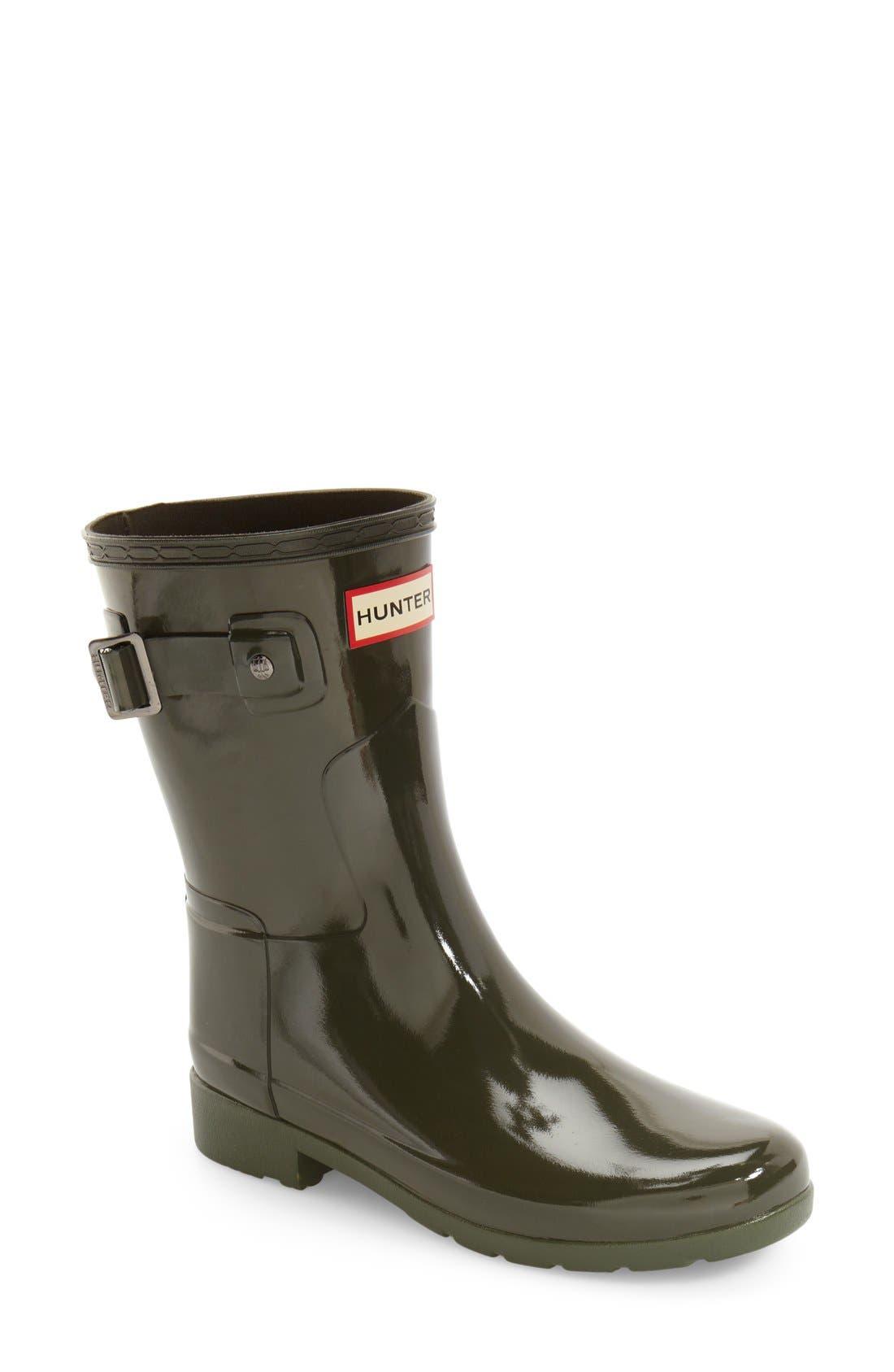 Main Image - Hunter 'Refined Short' Gloss Rain Boot (Women)