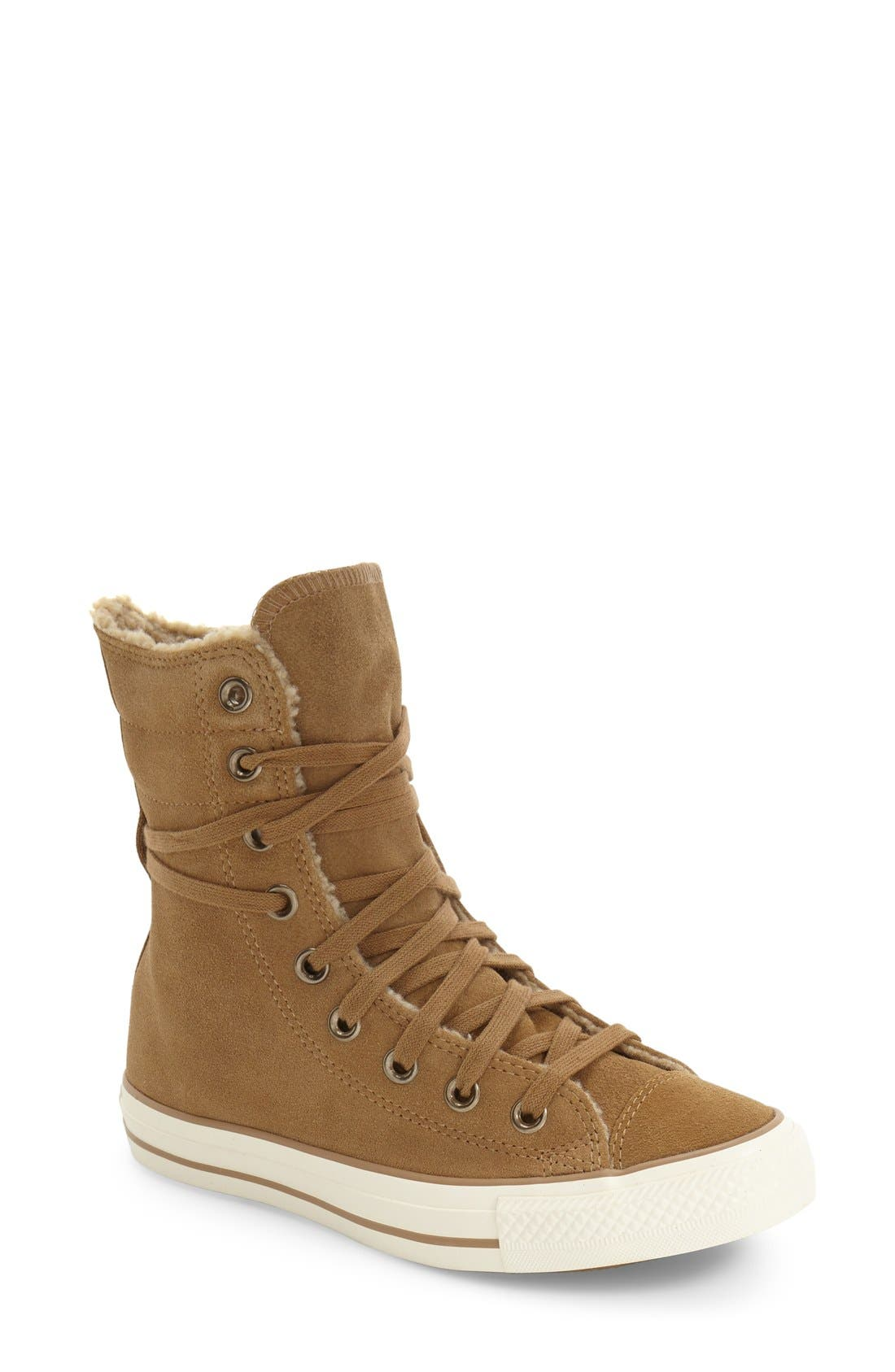 Alternate Image 1 Selected - Converse Chuck Taylor® All Star® High-Rise Sneaker (Women)