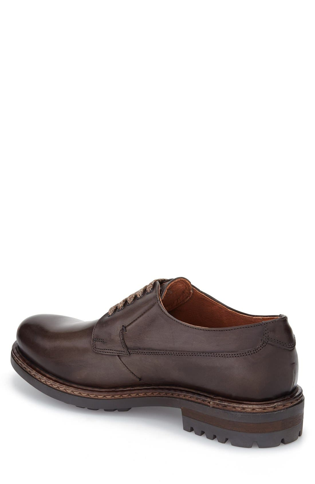 Front-Runner Plain Toe Derby,                             Alternate thumbnail 2, color,                             Grey
