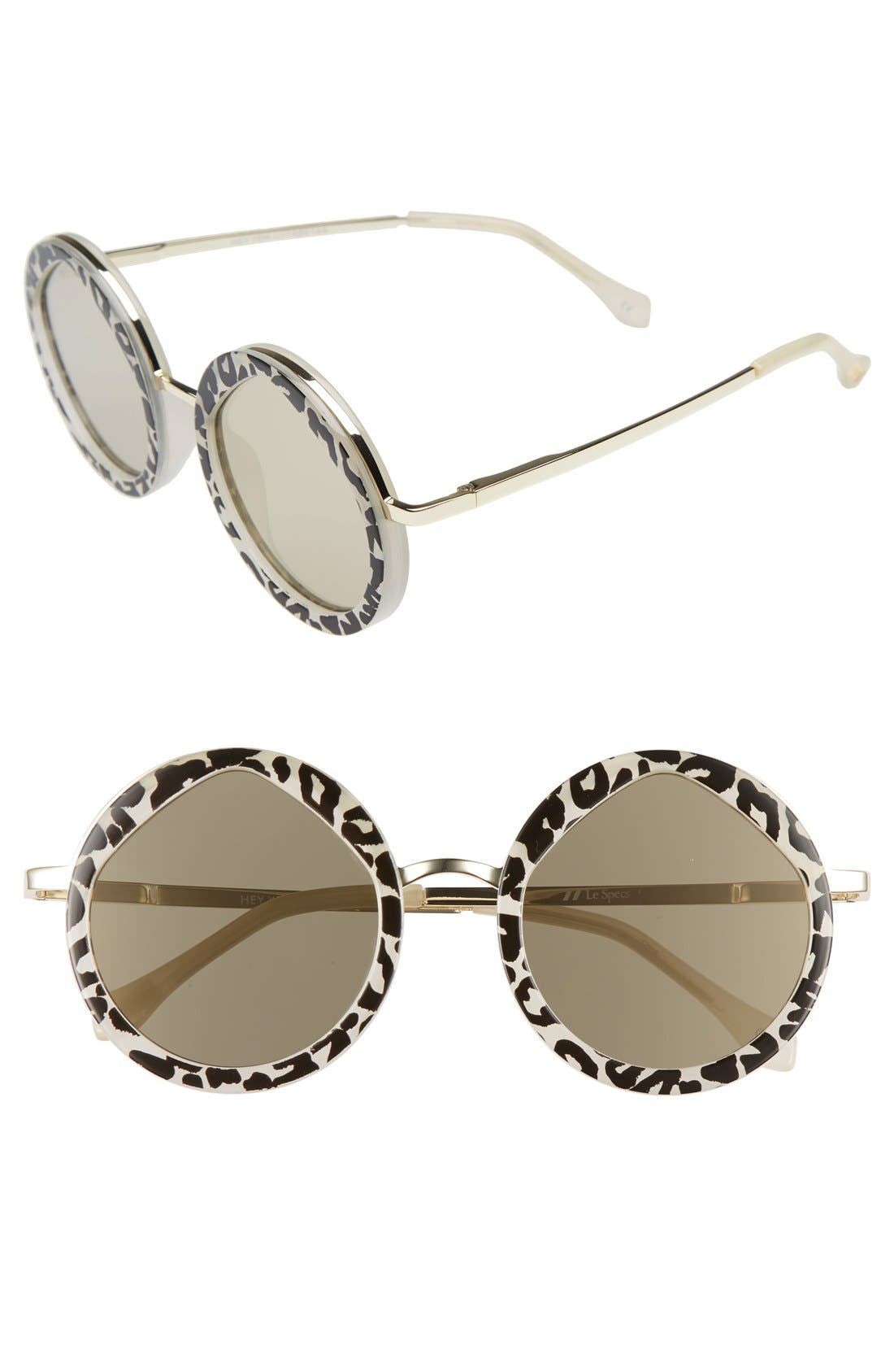 Alternate Image 1 Selected - Le Specs Hey Yeh 50mm Round Sunglasses