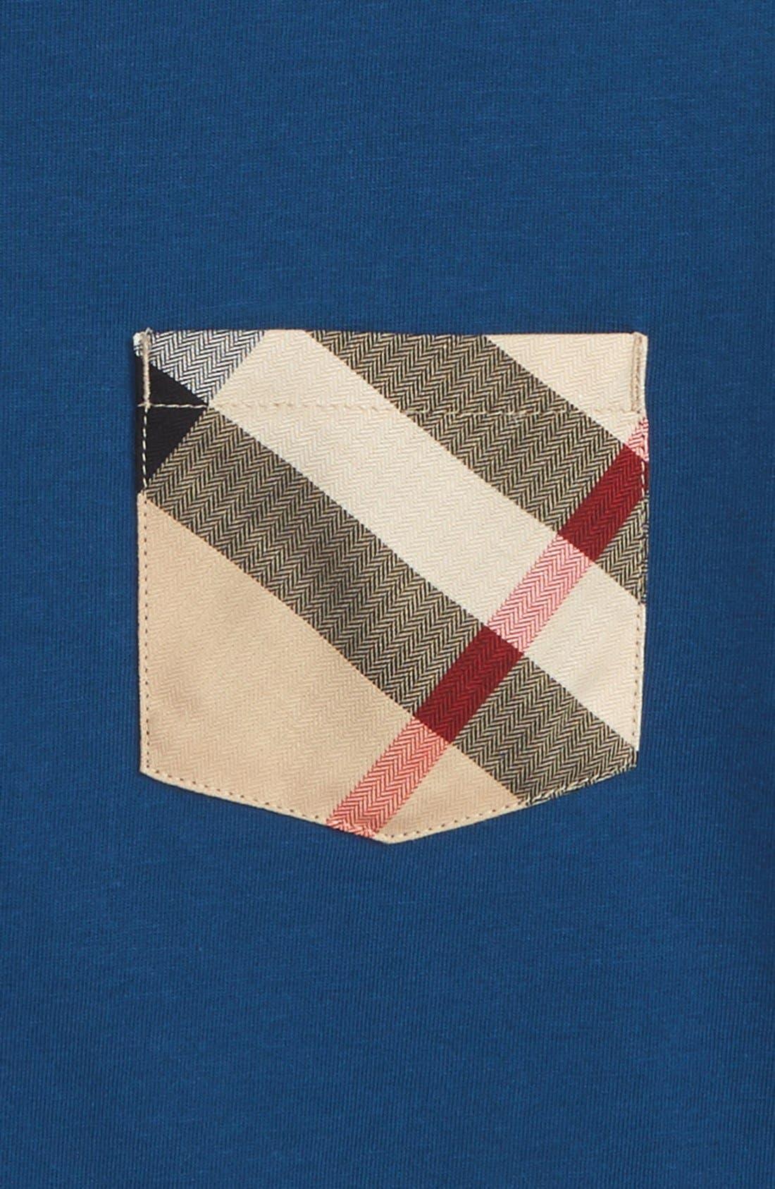 Alternate Image 2  - Burberry Check Pocket T-Shirt (Little Boys & Big Boys)