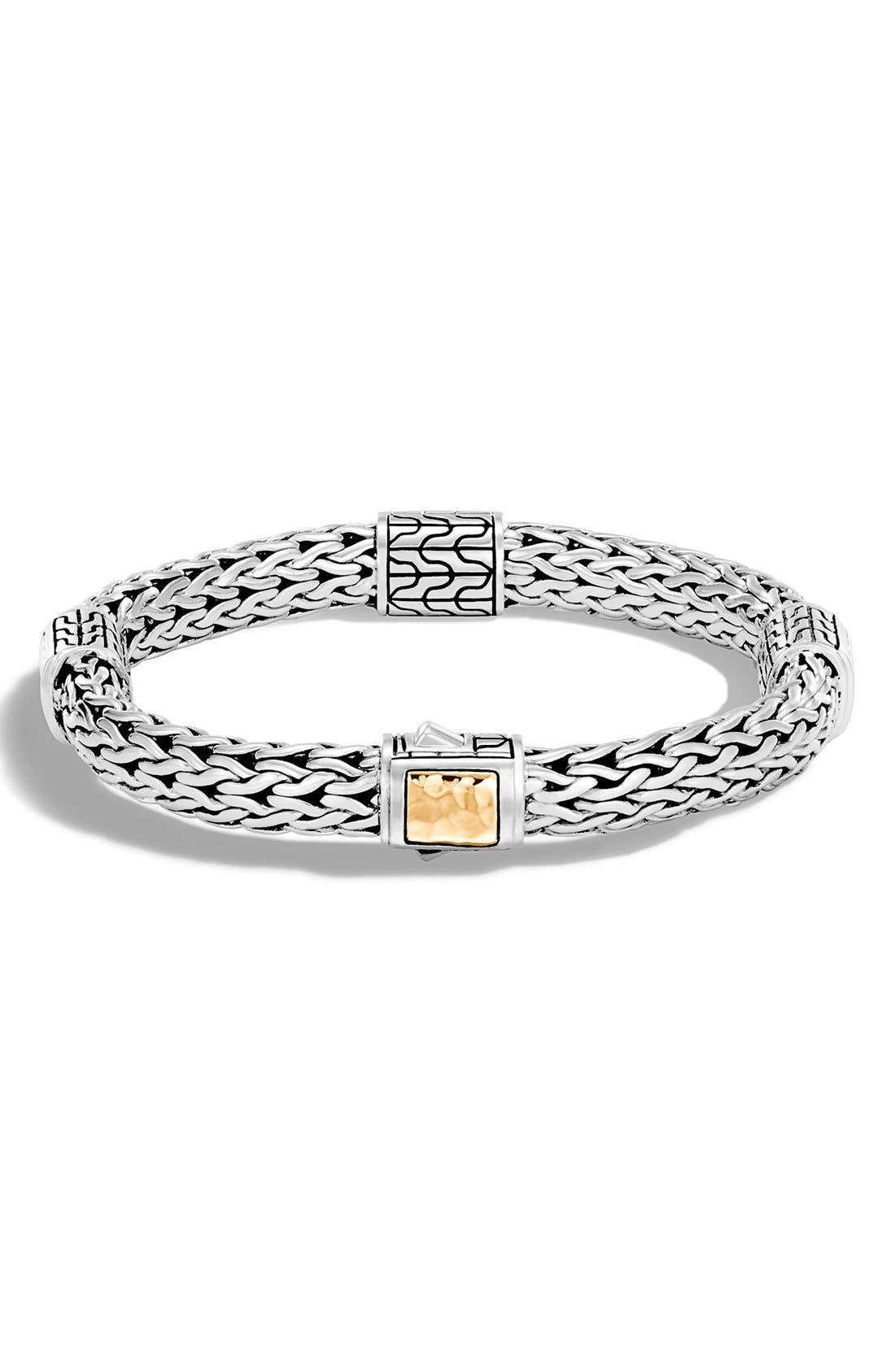 'Classic Chain' Station Medium Bracelet,                         Main,                         color, Silver/ Gold