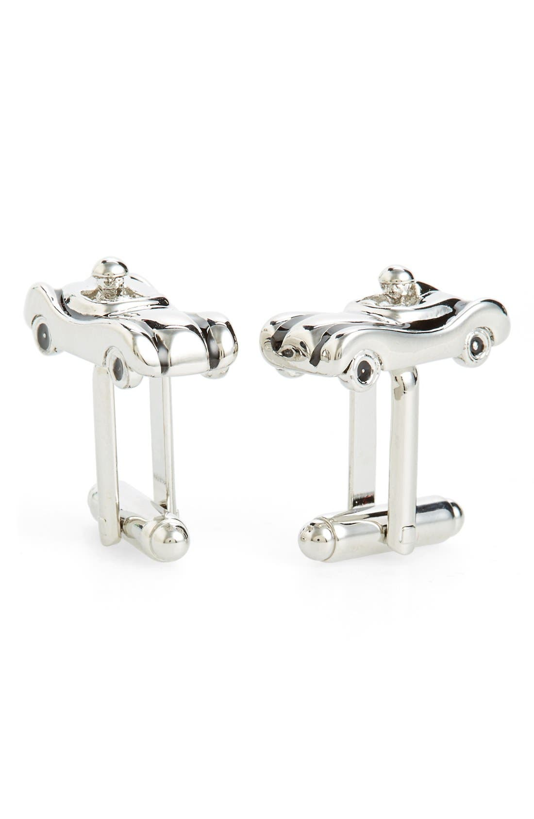 Speed Racer Cuff Links,                         Main,                         color, Silver