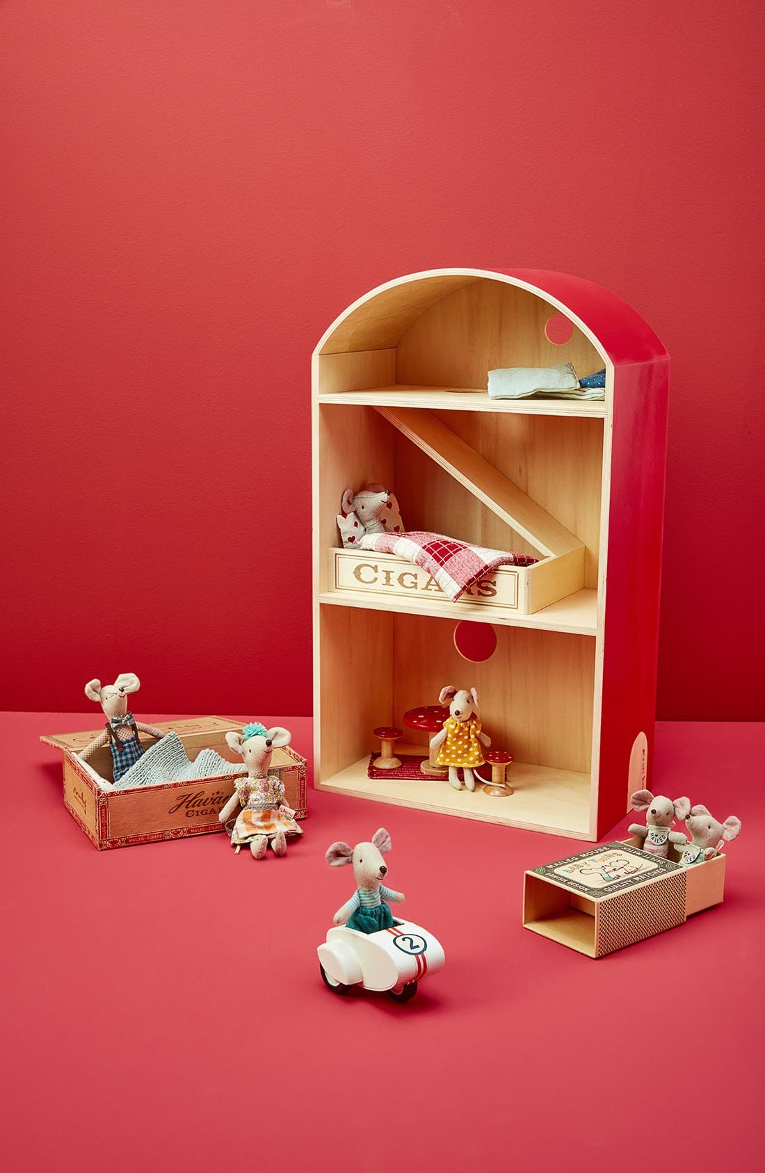 Baby Twins Stuffed Toy Mice in a Box,                             Alternate thumbnail 4, color,
