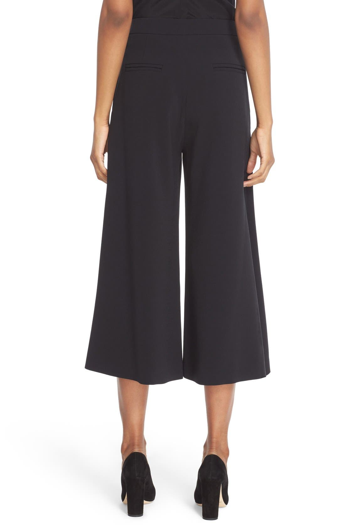 Devon Culottes,                             Alternate thumbnail 2, color,                             Black