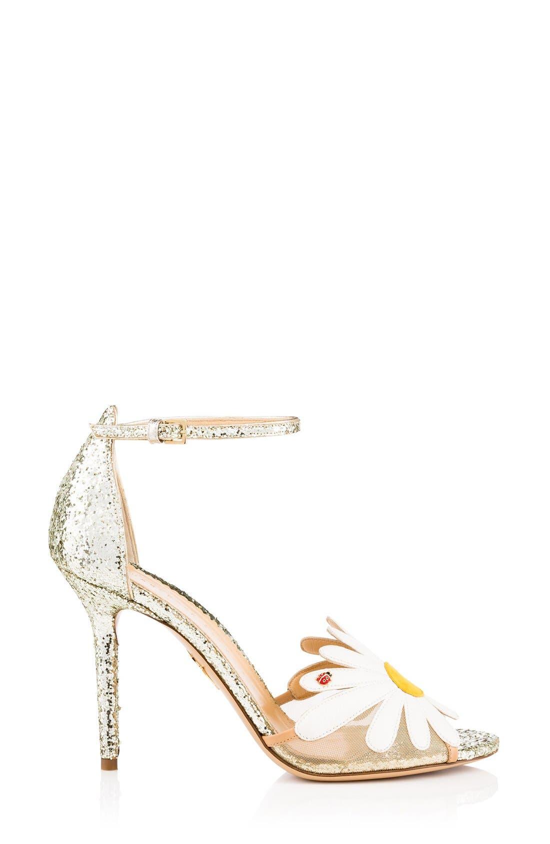 Alternate Image 1 Selected - Charlotte Olympia Margherite Flower Sandal (Women)