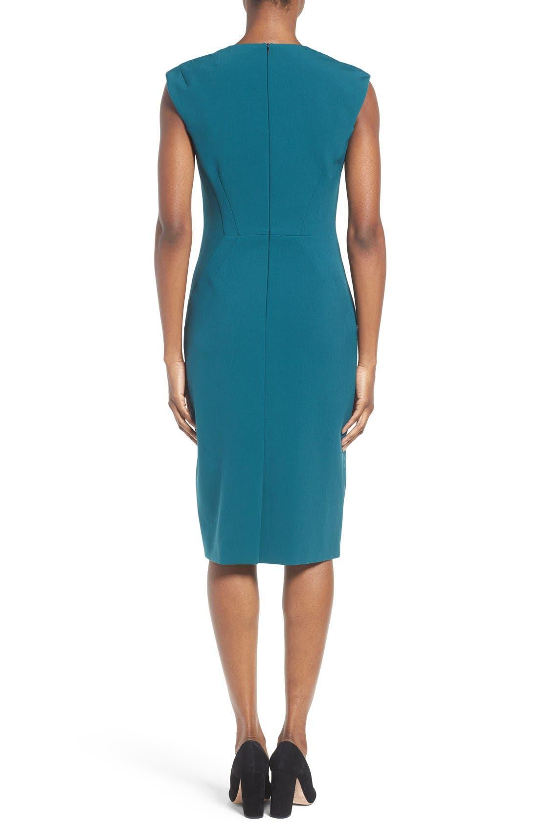 Alternate Image 2  - BOSS Dalana V-Neck Ponte Sheath Dress