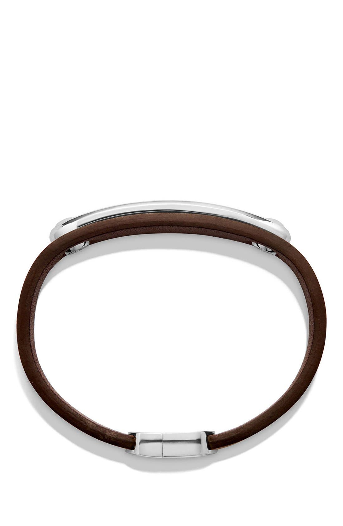 Alternate Image 2  - David Yurman Graphic Cable Leather ID Bracelet