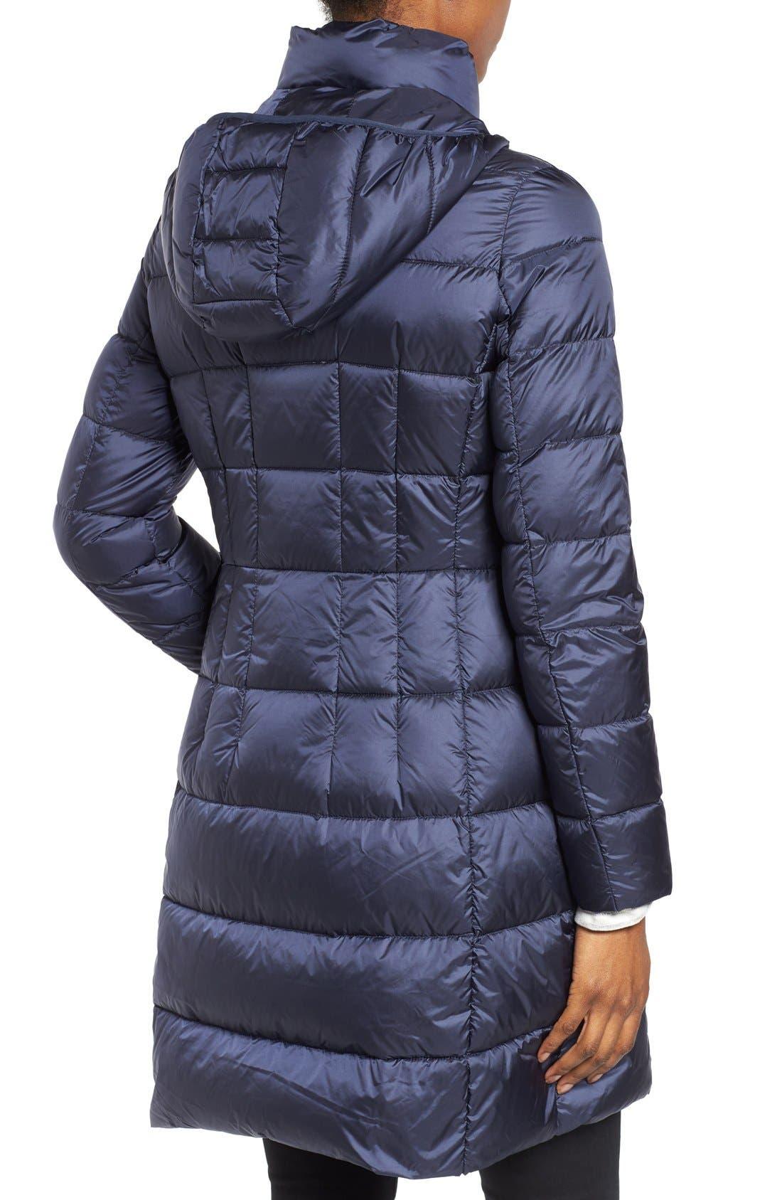 Packable Down Coat,                             Alternate thumbnail 2, color,                             Dark Blue