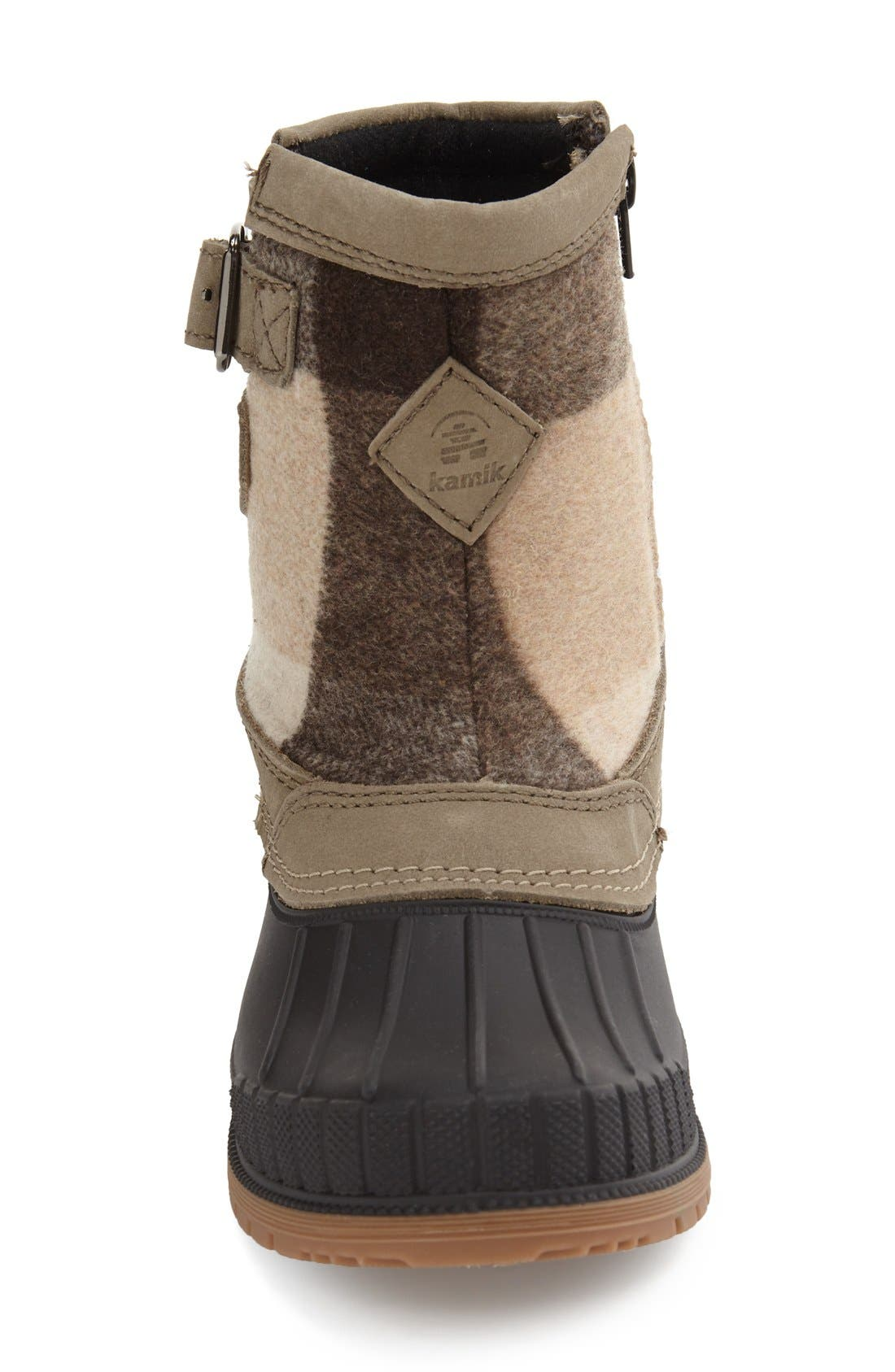 Avelle Waterproof Boot,                             Alternate thumbnail 3, color,                             Taupe Leather