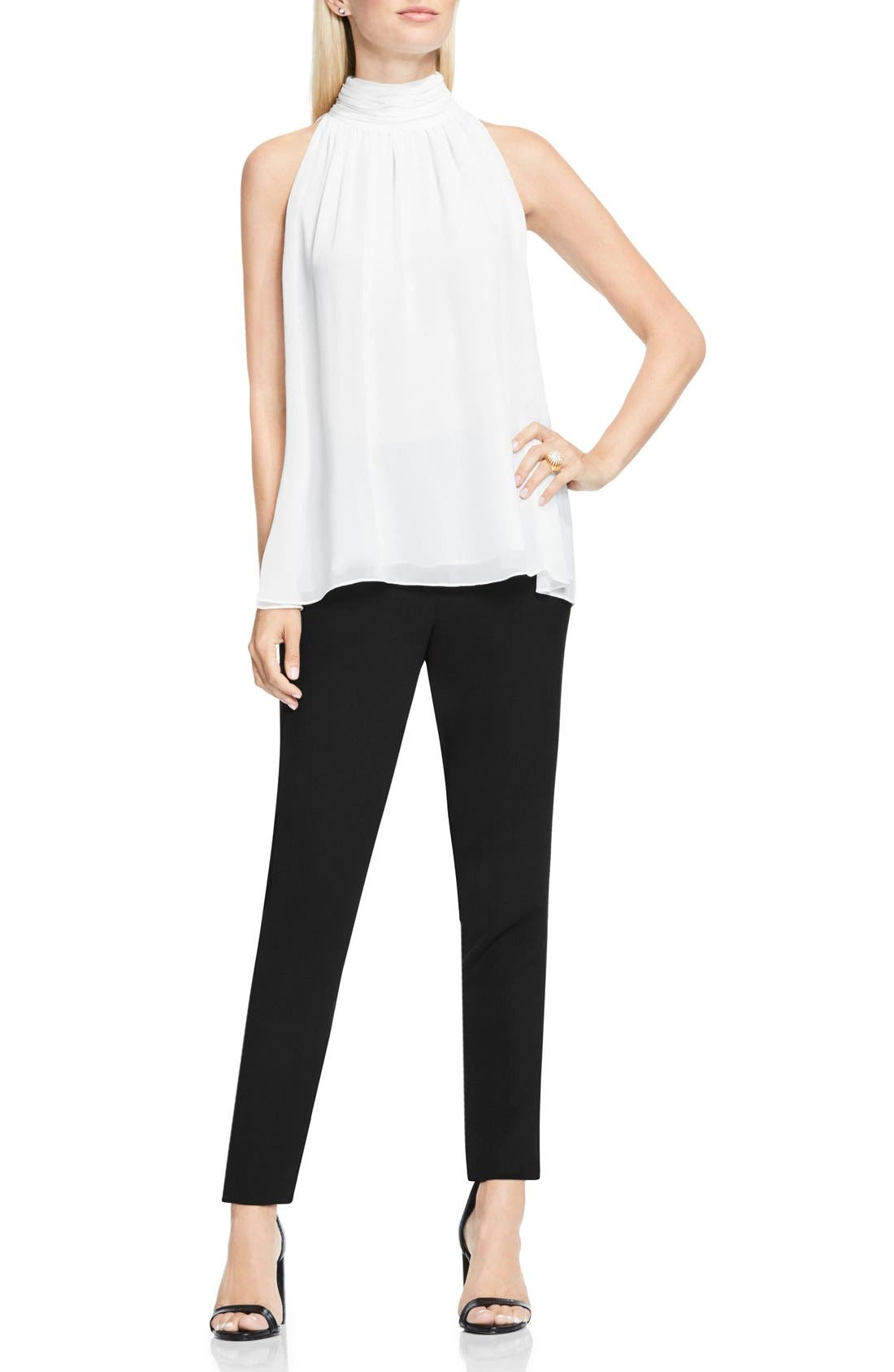 Alternate Image 2  - Vince Camuto Shirred Neck Halter Blouse
