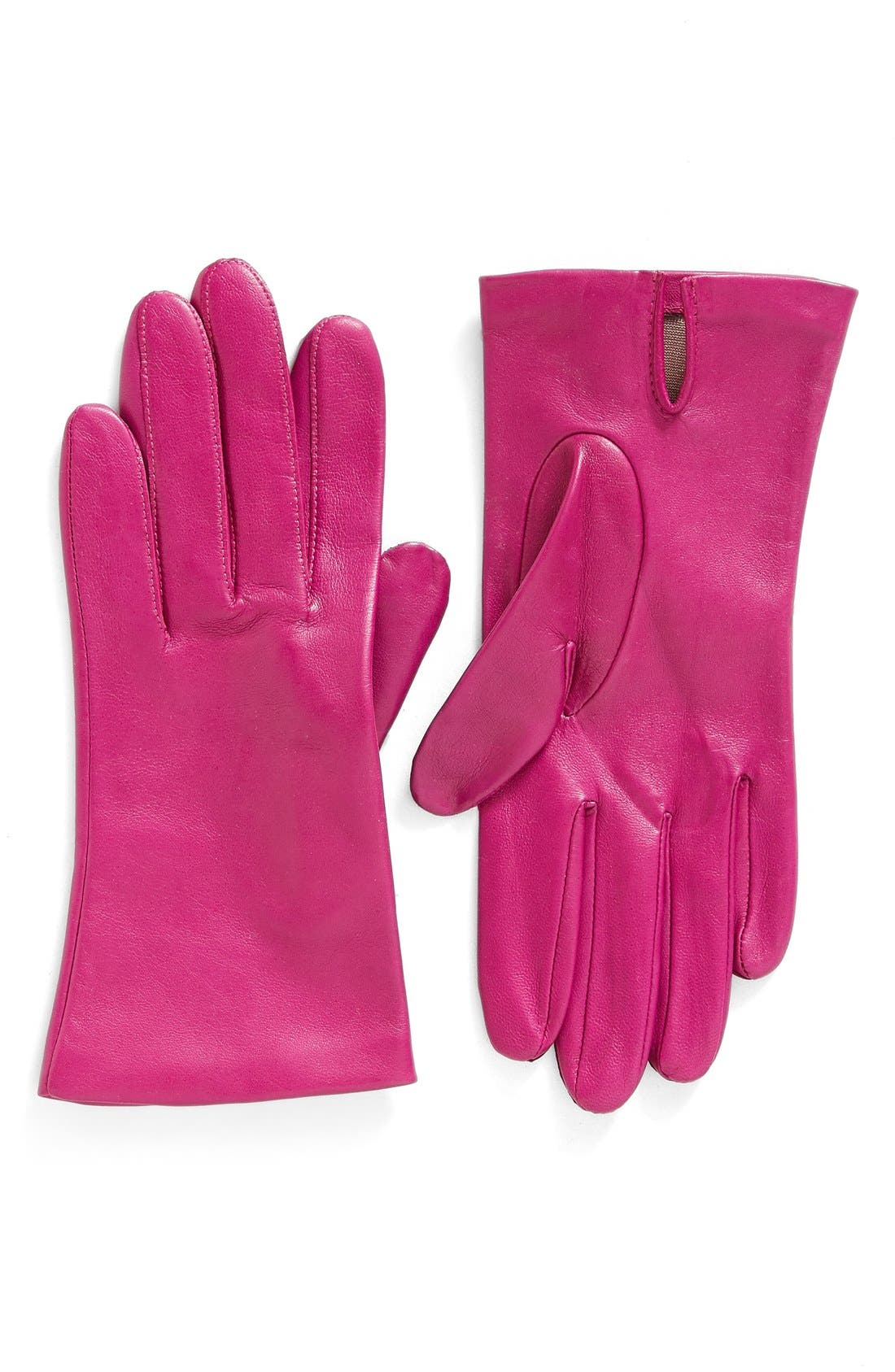 Short Leather Gloves,                         Main,                         color, Cuberdon