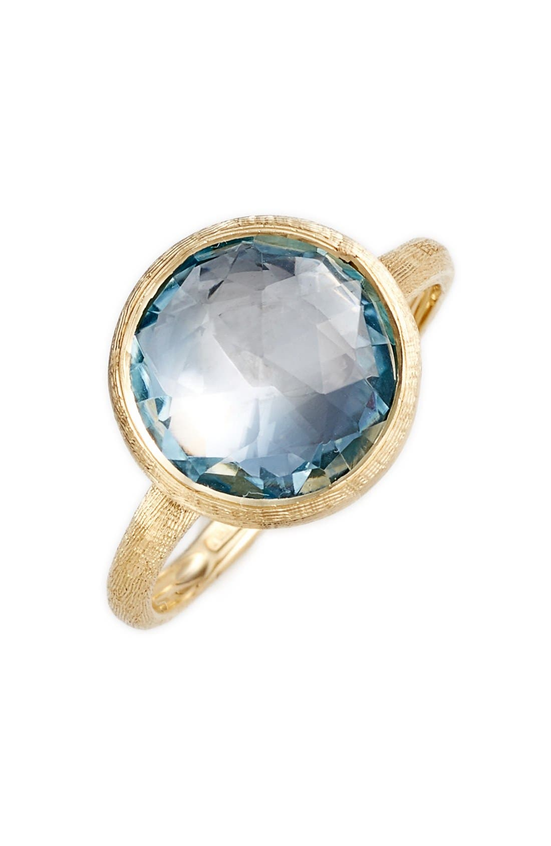 Stackable Semiprecious Stone Ring,                             Main thumbnail 1, color,                             Yellow Gold/ Blue Topaz