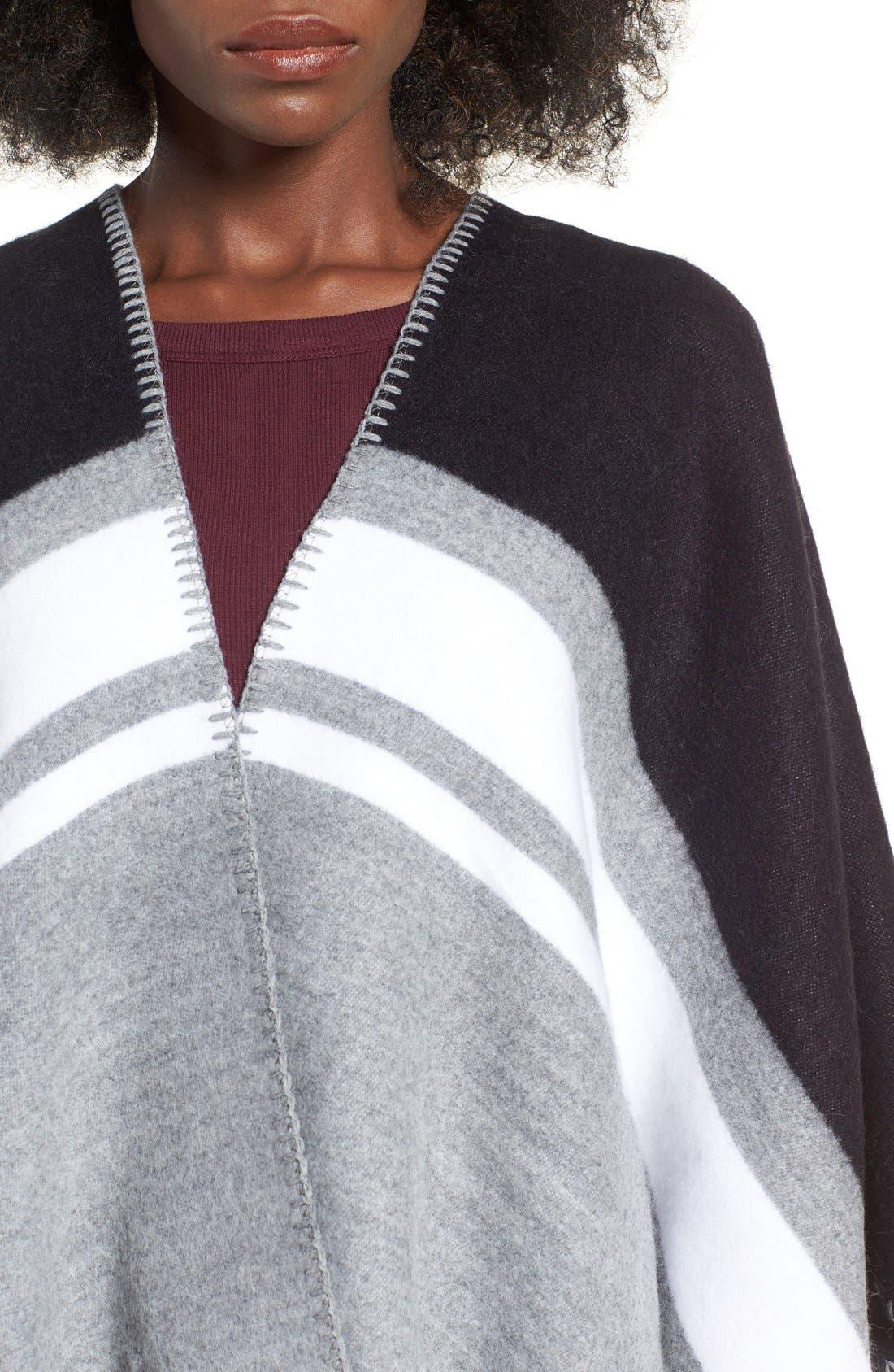 Alternate Image 4  - La Double 7 Stripe Poncho