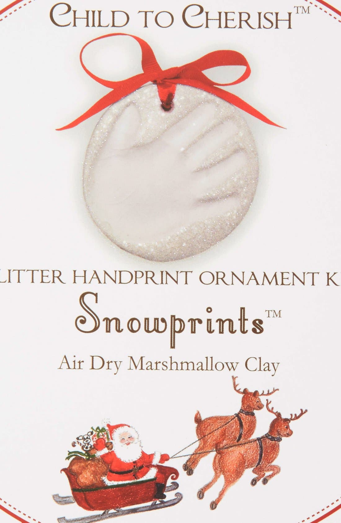 Snowprints Glitter Handprint Ornament Kit,                             Alternate thumbnail 2, color,                             Multi